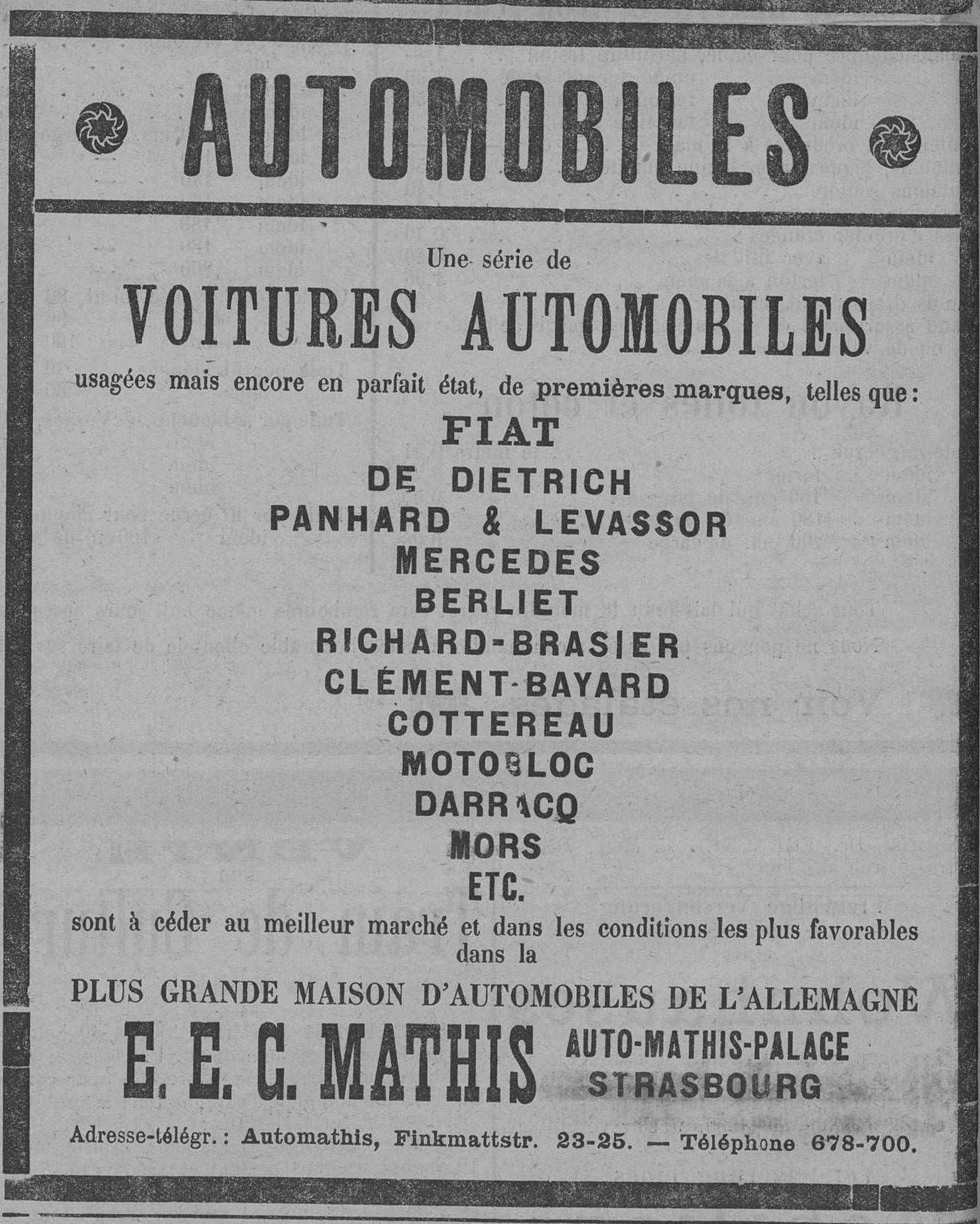 Contenu du Une série de voitures automobiles usagées mais encore en parfait état
