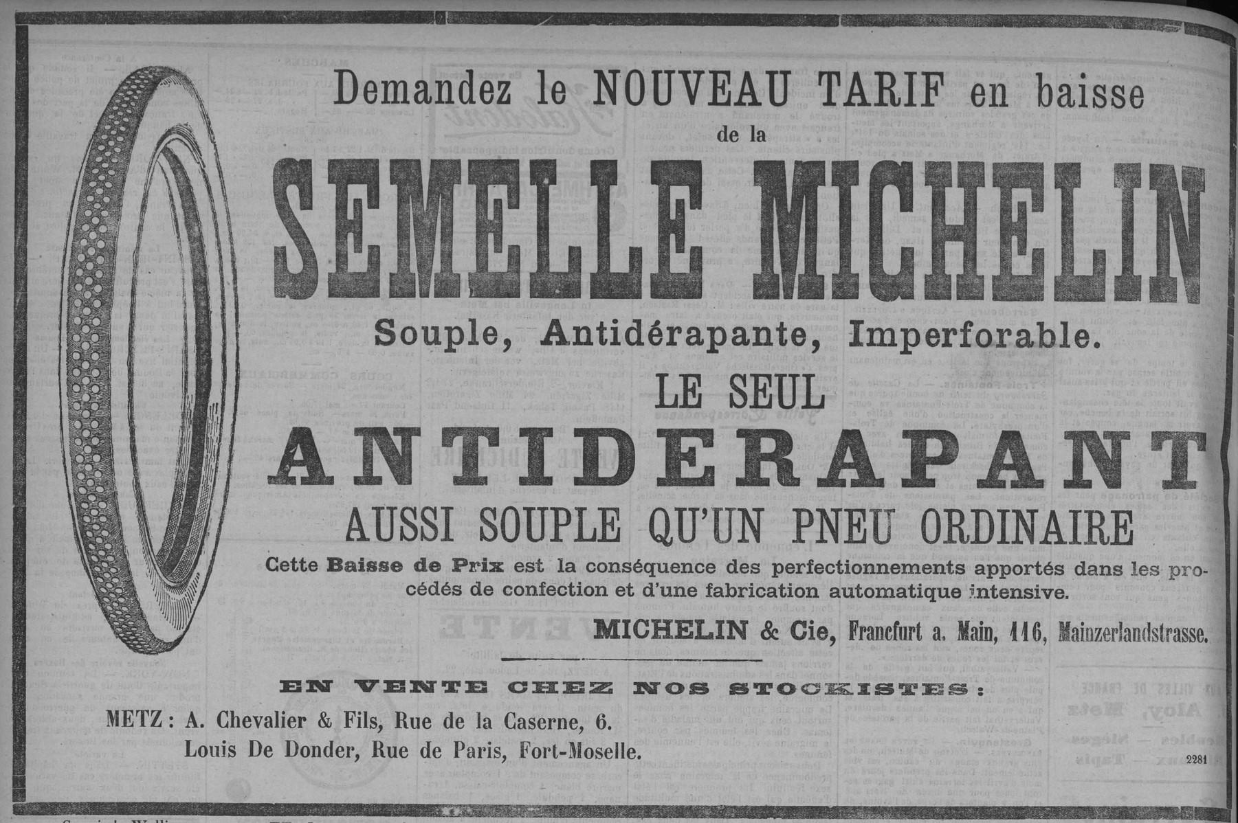 Contenu du Semelle Michelin
