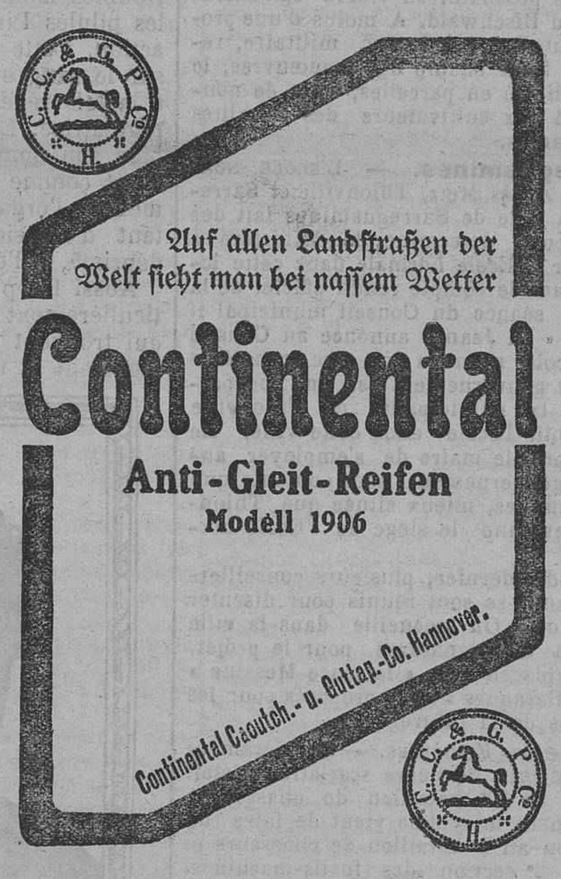 Contenu du Continental Anti-Gleit-Reifen, Modell 1906