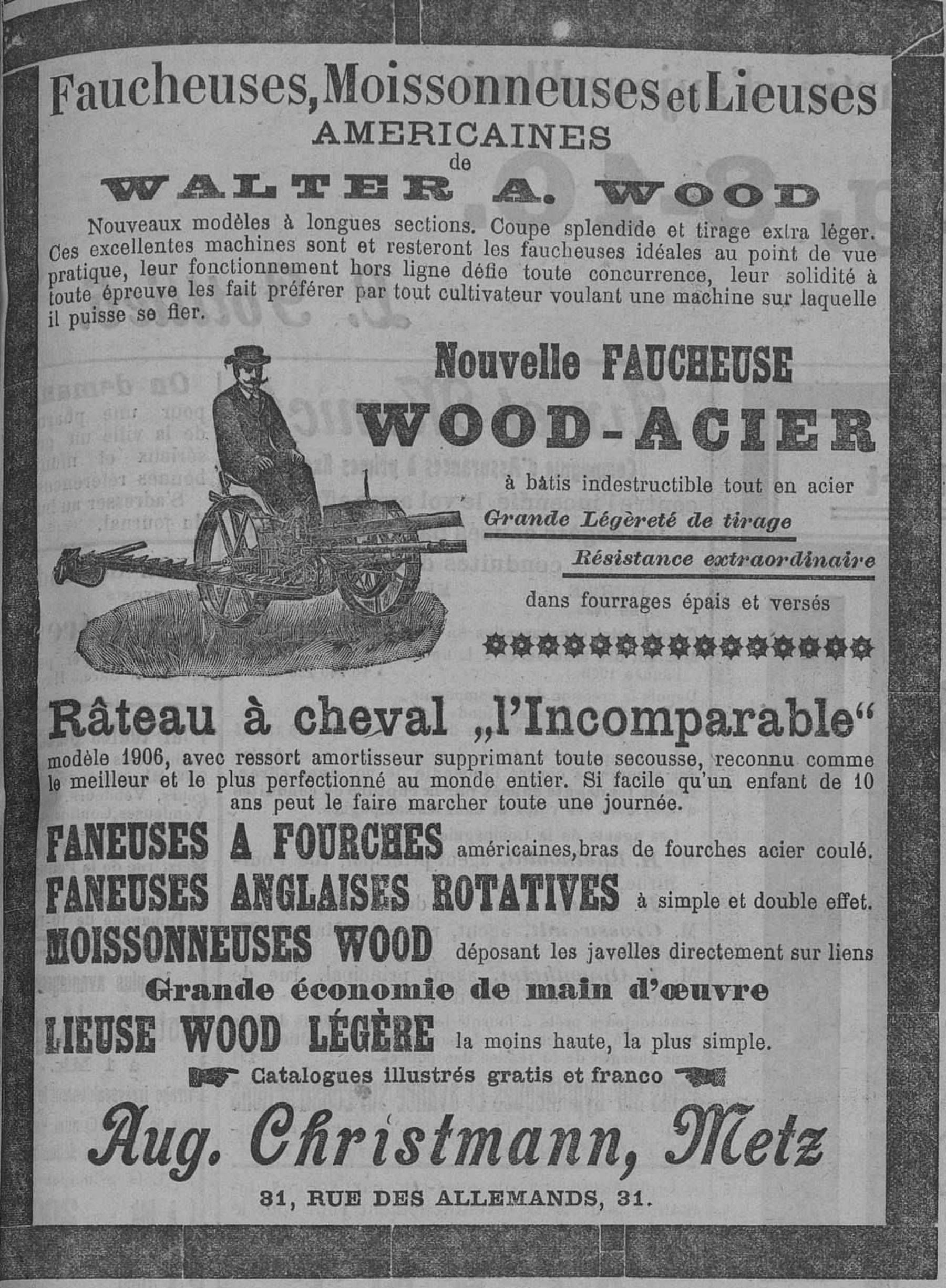 Contenu du Faucheuses, moissonneuses et lieuses américaines de Walter A. Wood