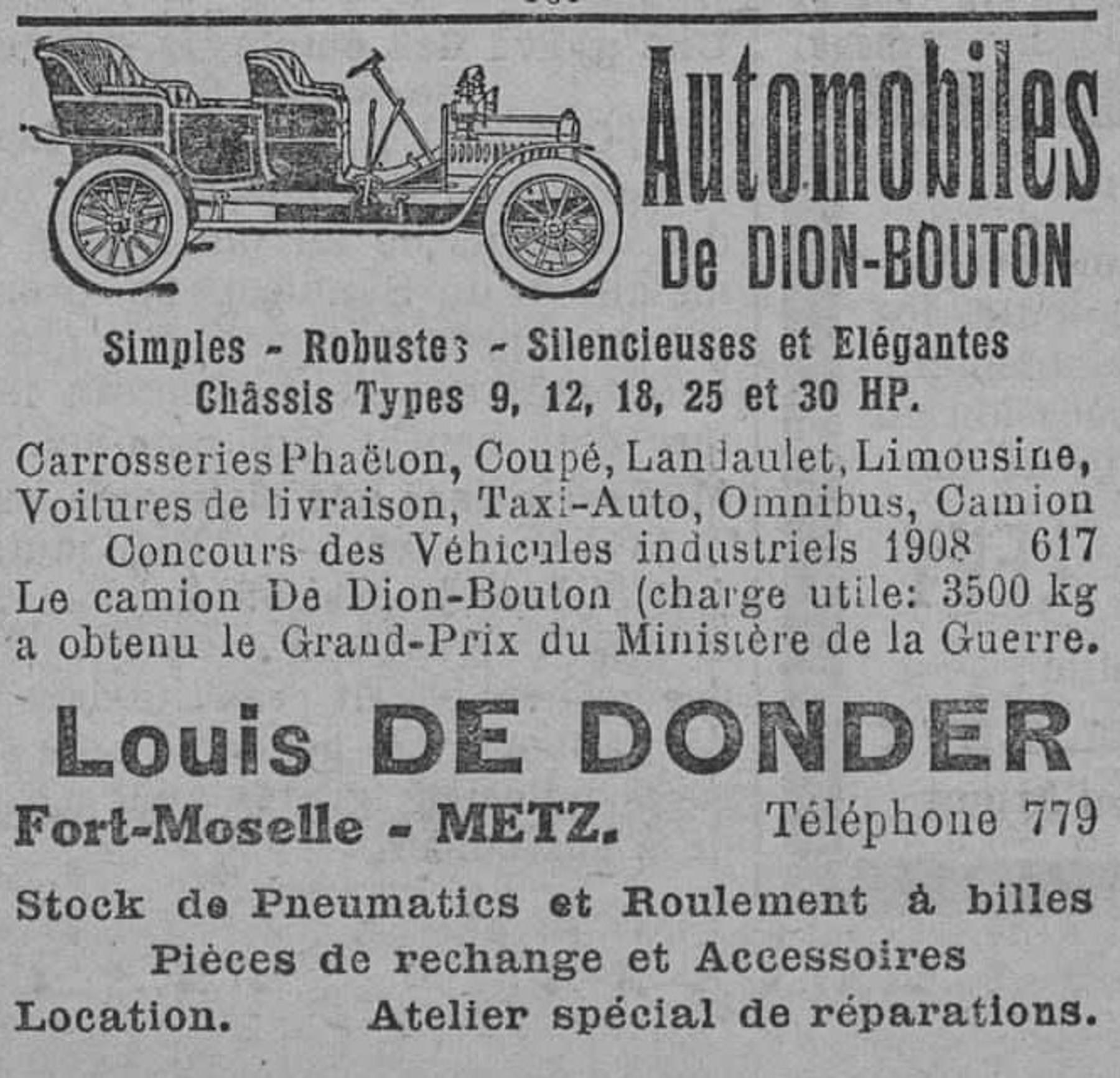 Contenu du Automobiles De Dion-Bouton
