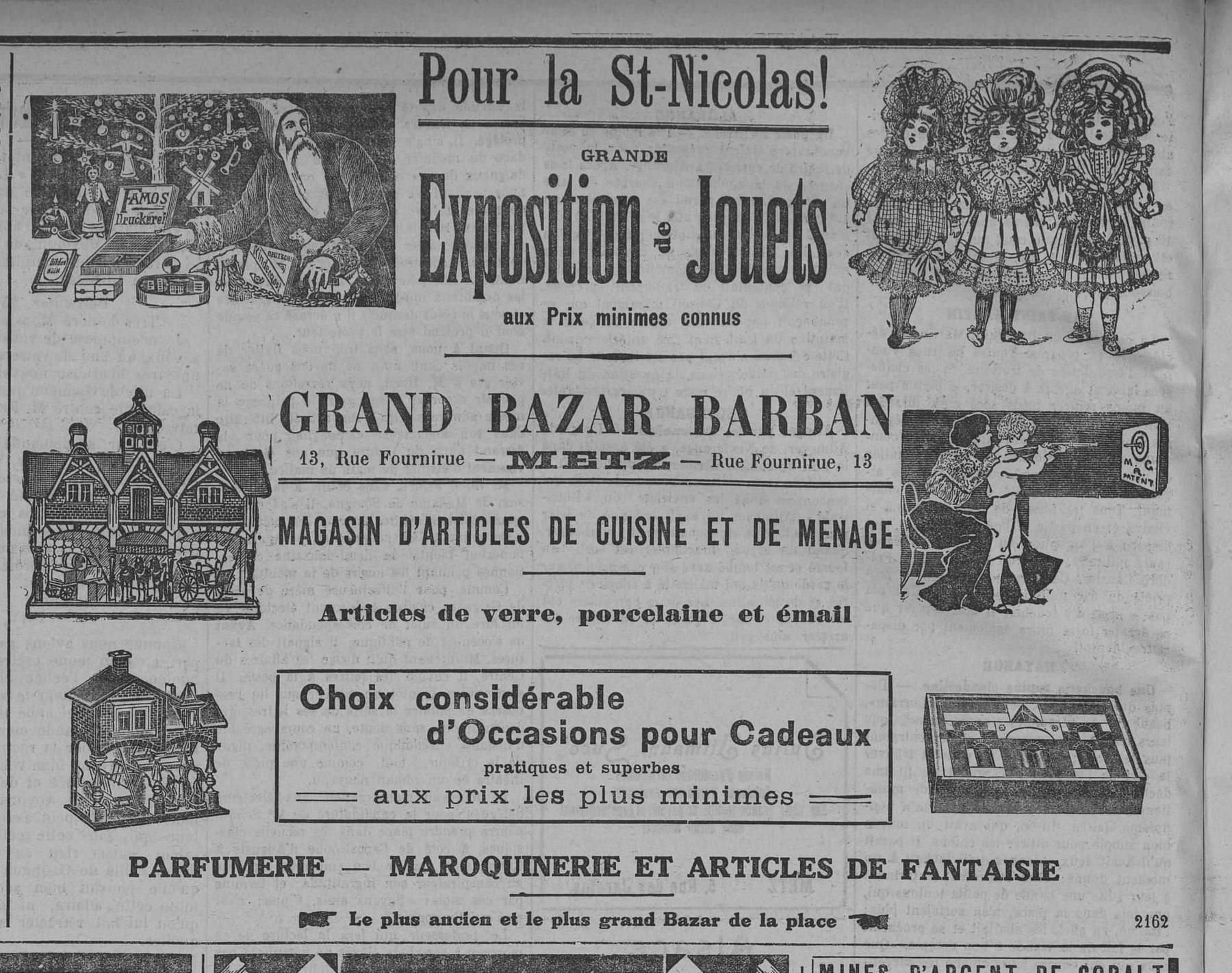 Contenu du Pour la Saint Nicolas, grande exposition de jouets