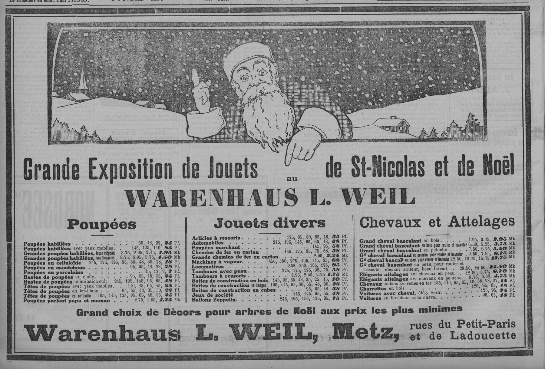Contenu du Grande exposition de jouets pour la Saint Nicolas et Noël