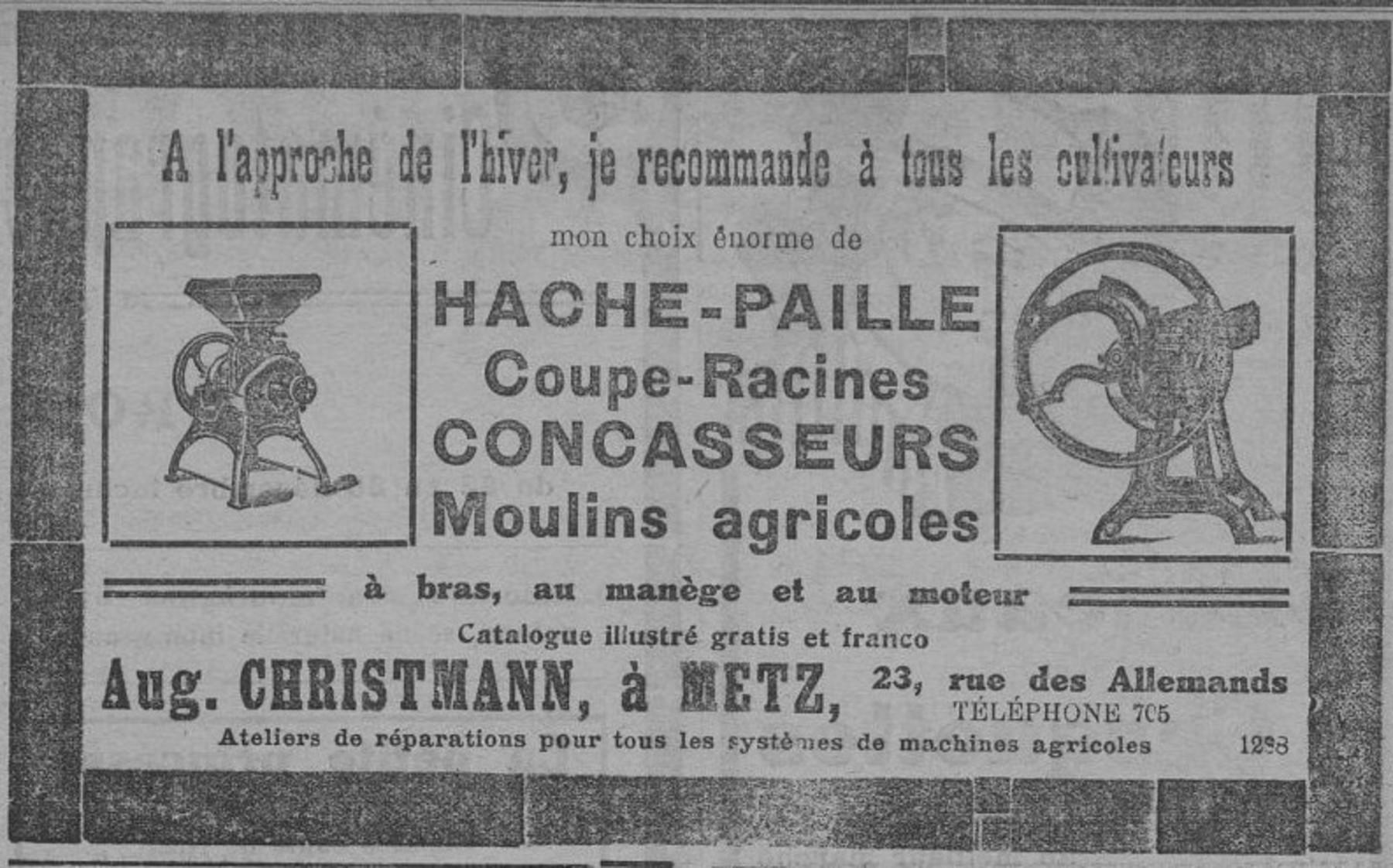 Contenu du Hache-Paille, Coupe-racines, concasseurs, moulins agricoles