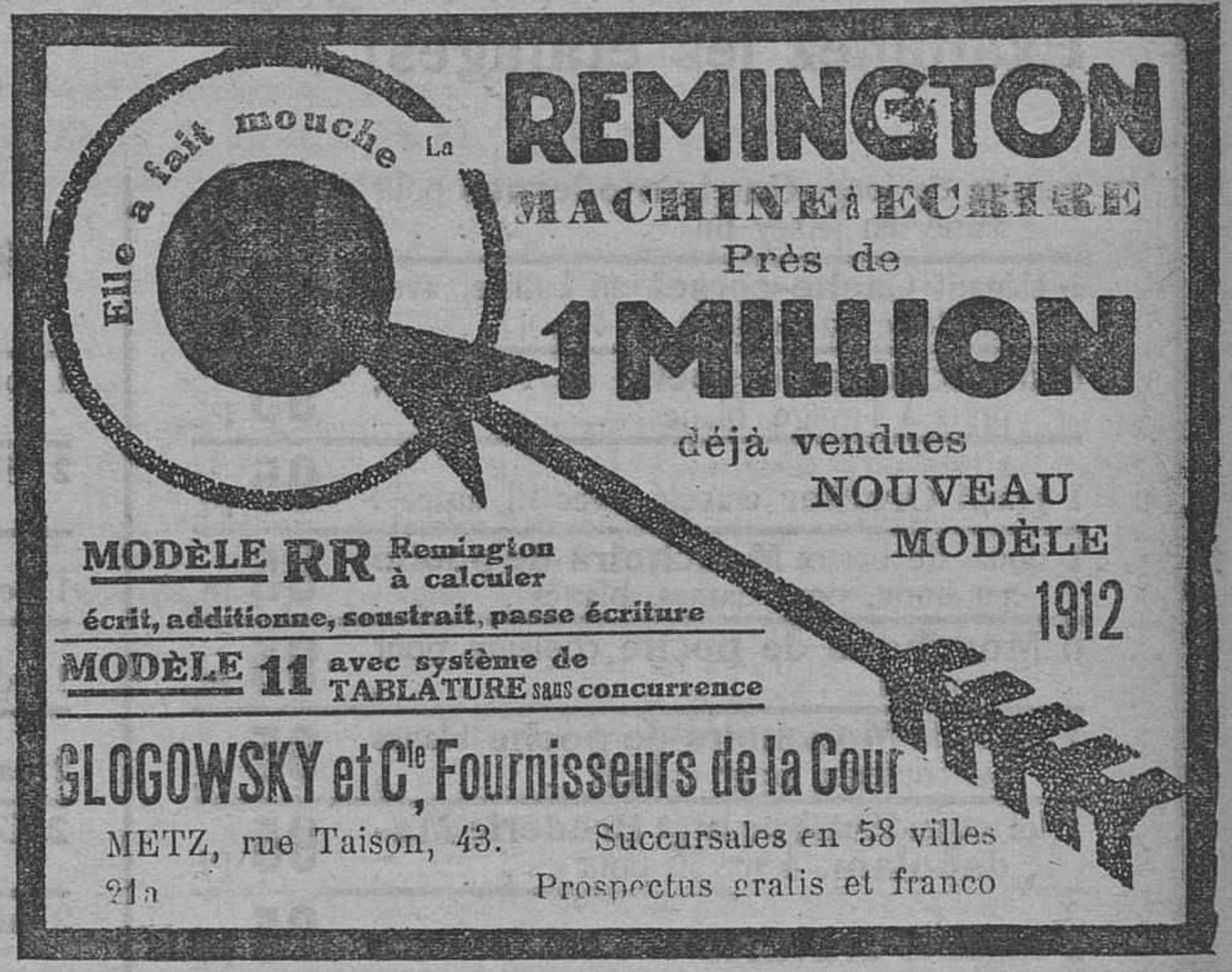 Contenu du La machine à écrire Remington
