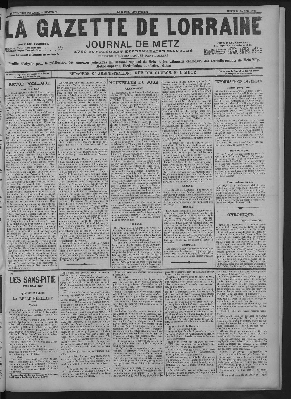 La Gazette de Lorraine