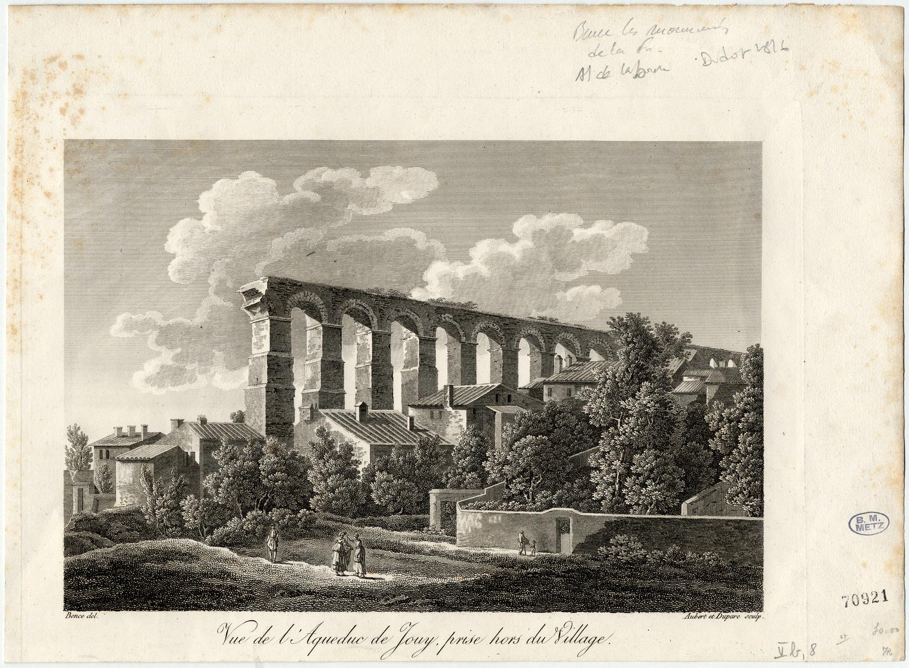Contenu du Vue de l'aqueduc de Jouy prise hors du village