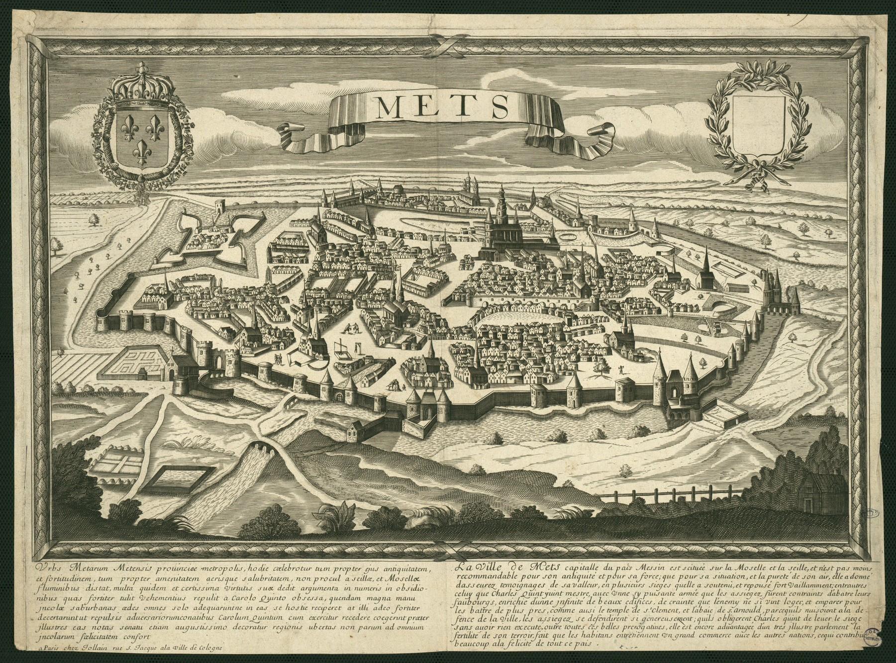 Contenu du Plan de la ville fortifiée (XVIIe s.)