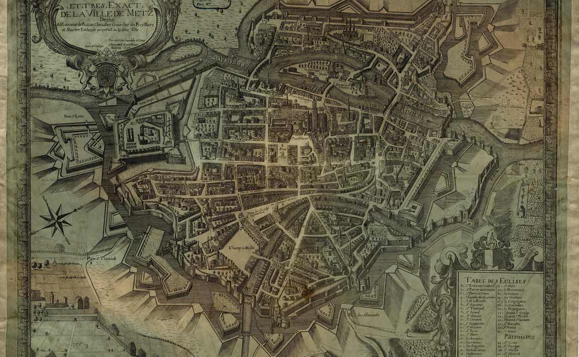 Contenu du Plan relevé et très exact de la Ville de Metz,