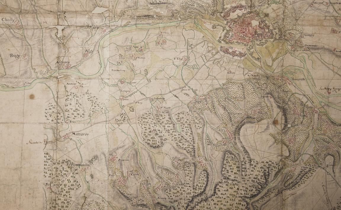 Contenu du Carte particulière de grande partie du Pays Messin avec les limites qui la séparent des pays circum voisins