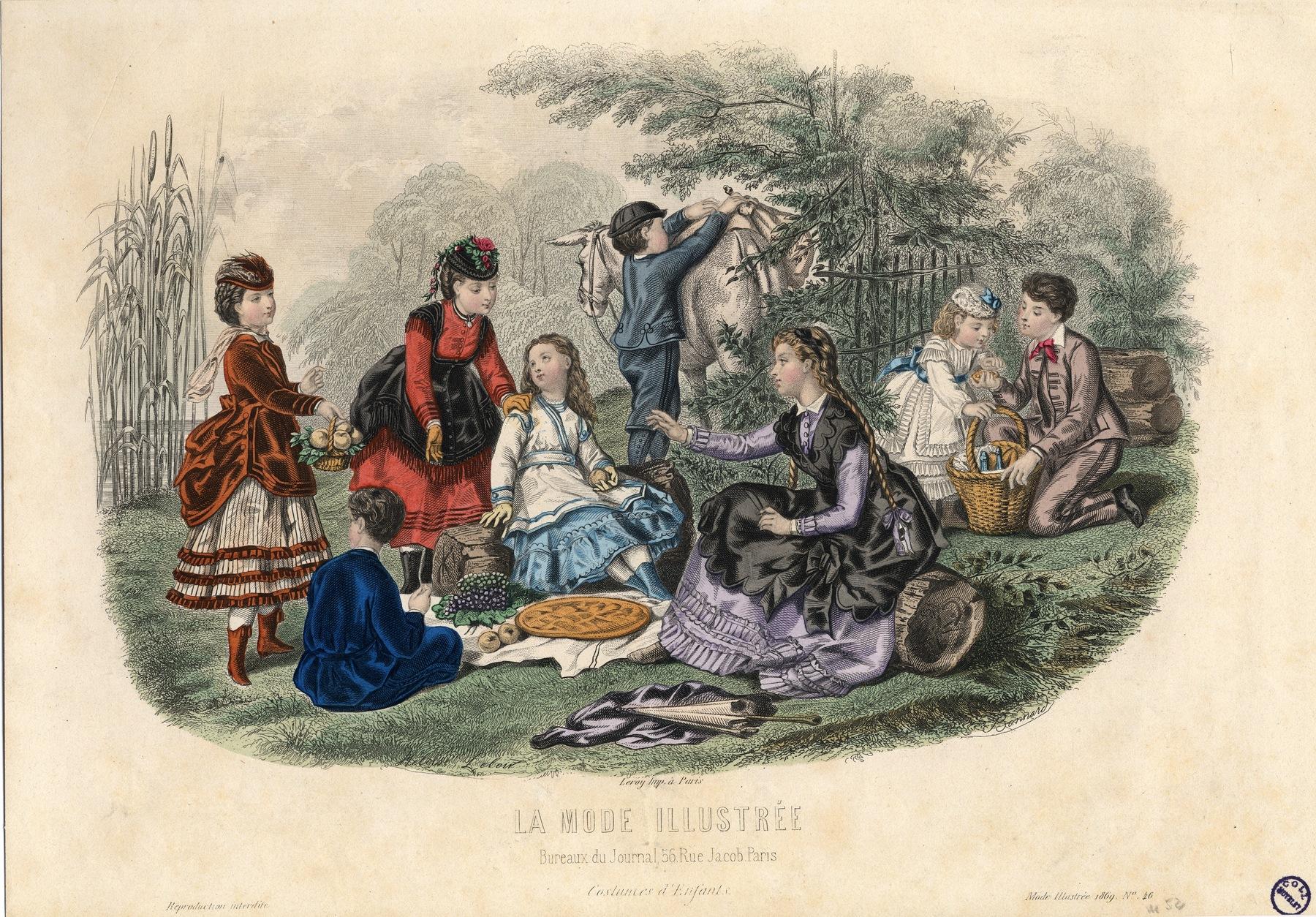 Contenu du La mode illustrée n°46 – Costumes d'enfants.