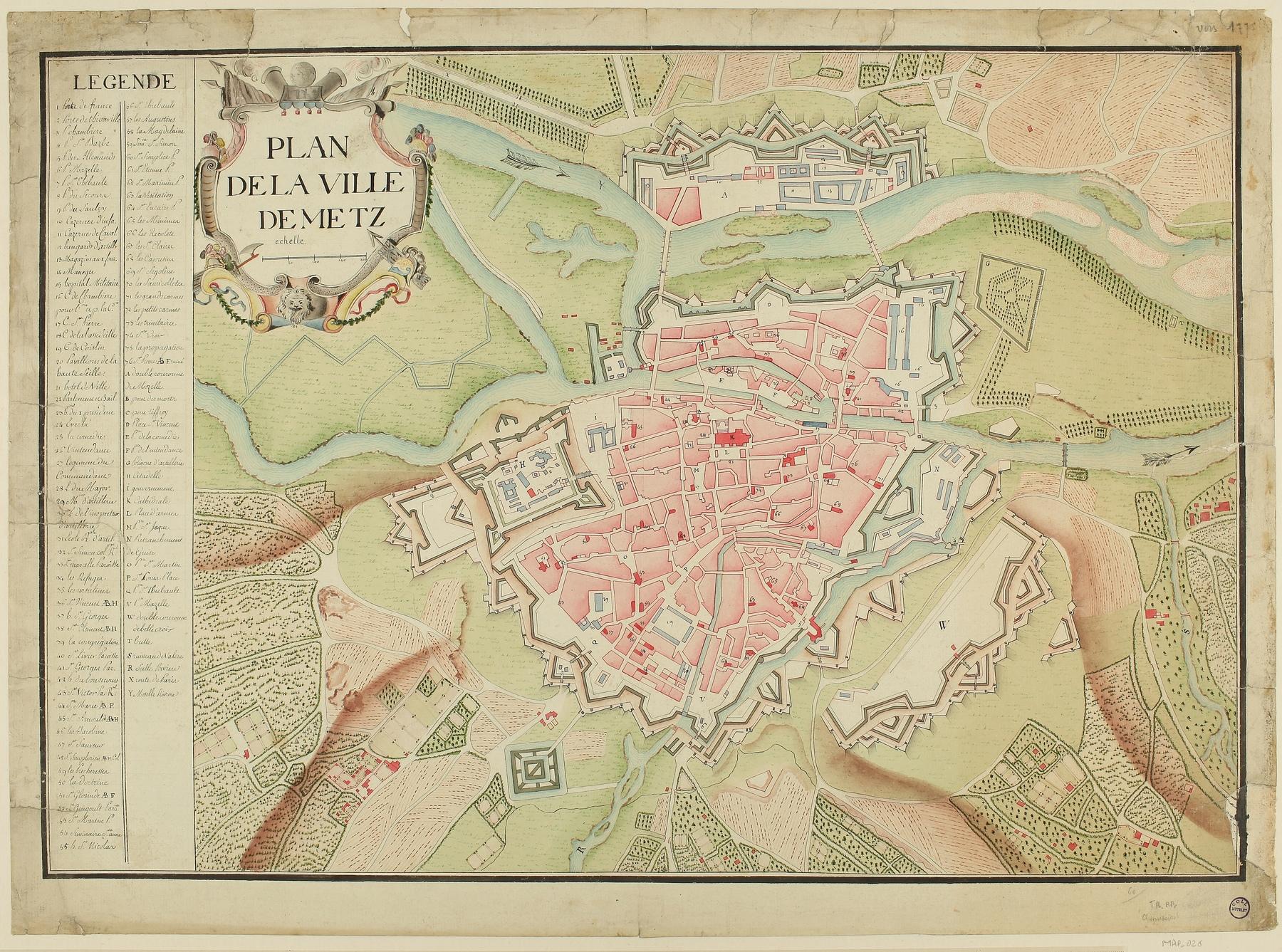 Contenu du Plan de la Ville de Metz