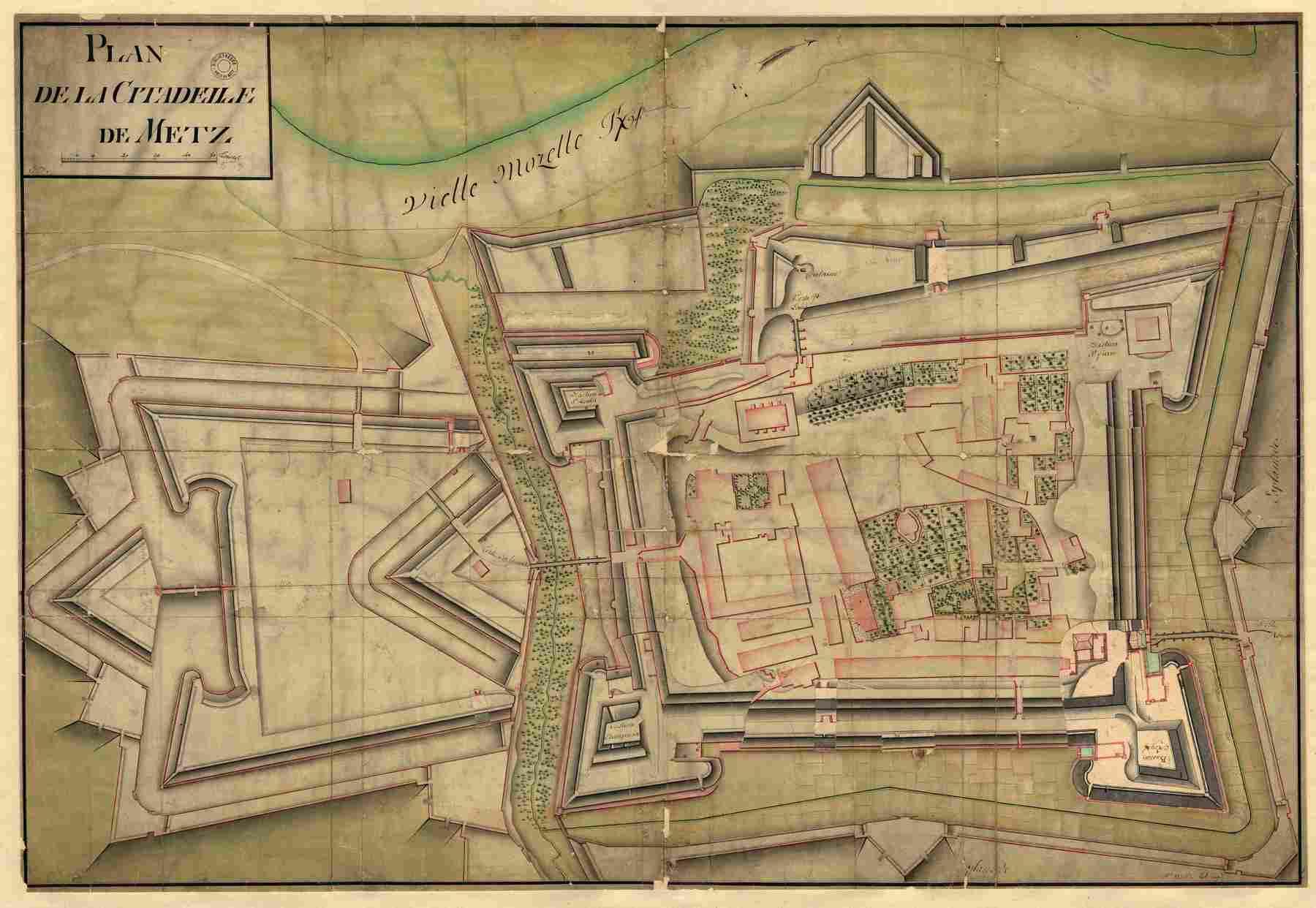 Contenu du Plan de la Citadelle bastionnée