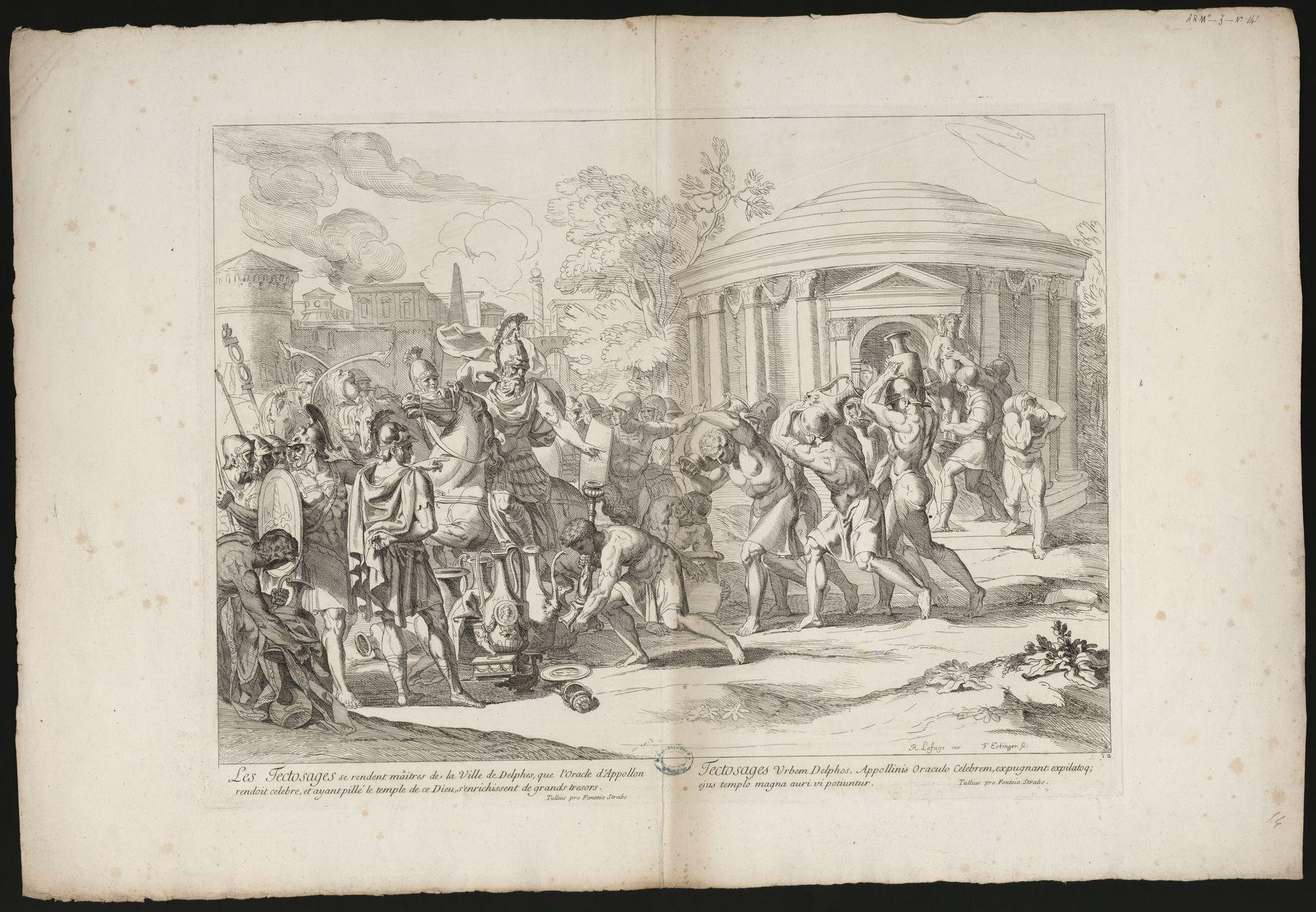 Contenu du Les Tectosages se rendent maîtres de la ville de Delphes