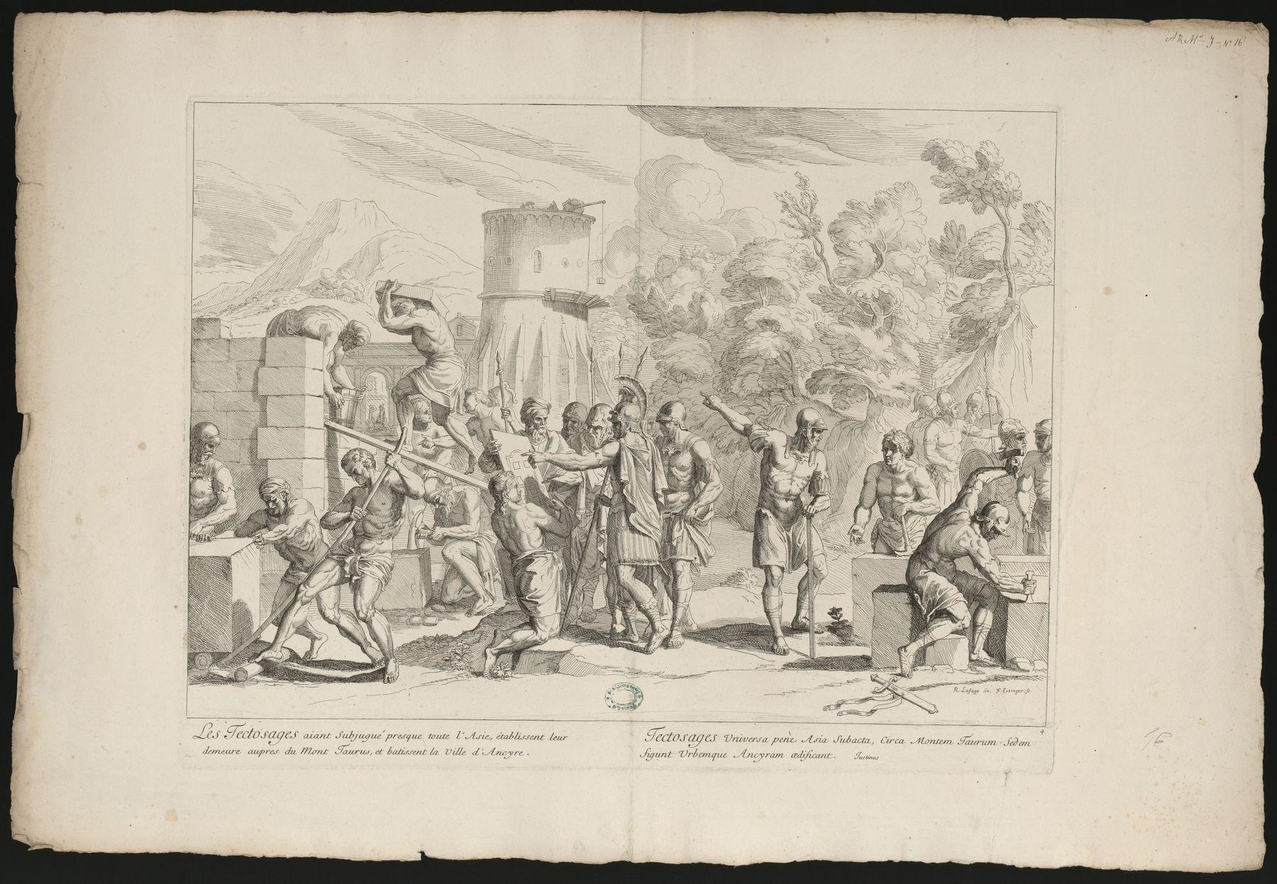 Contenu du Les Tectosages bâtissent la ville d'Ancyre