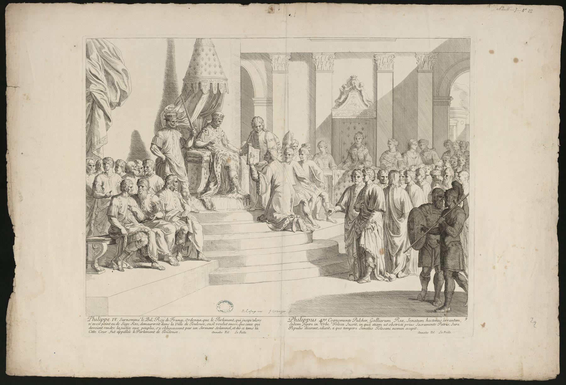 Contenu du Philippe IV ordonne que le parlement siège à Toulouse