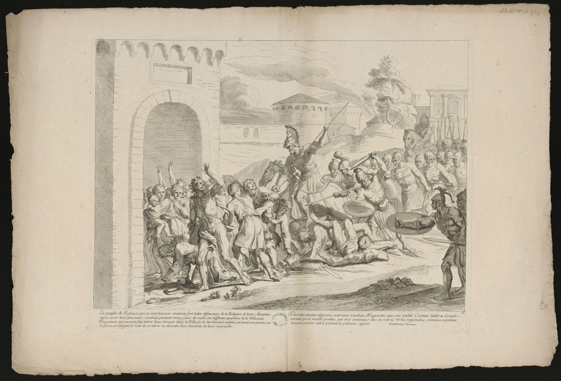 Contenu du [Les Huguenots obligent les Toulousains à quitter la ville]