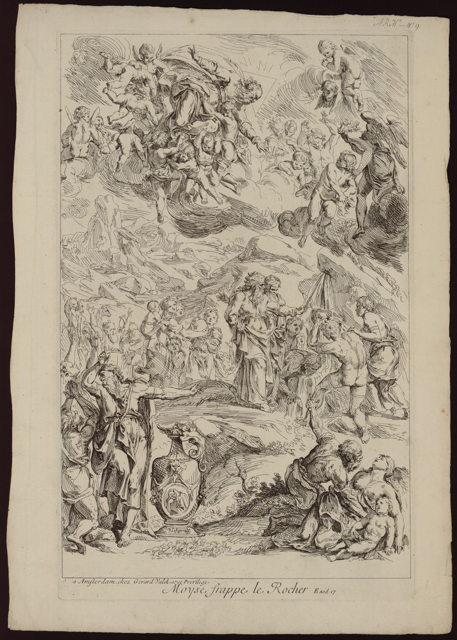Contenu du Moïse frappe le rocher