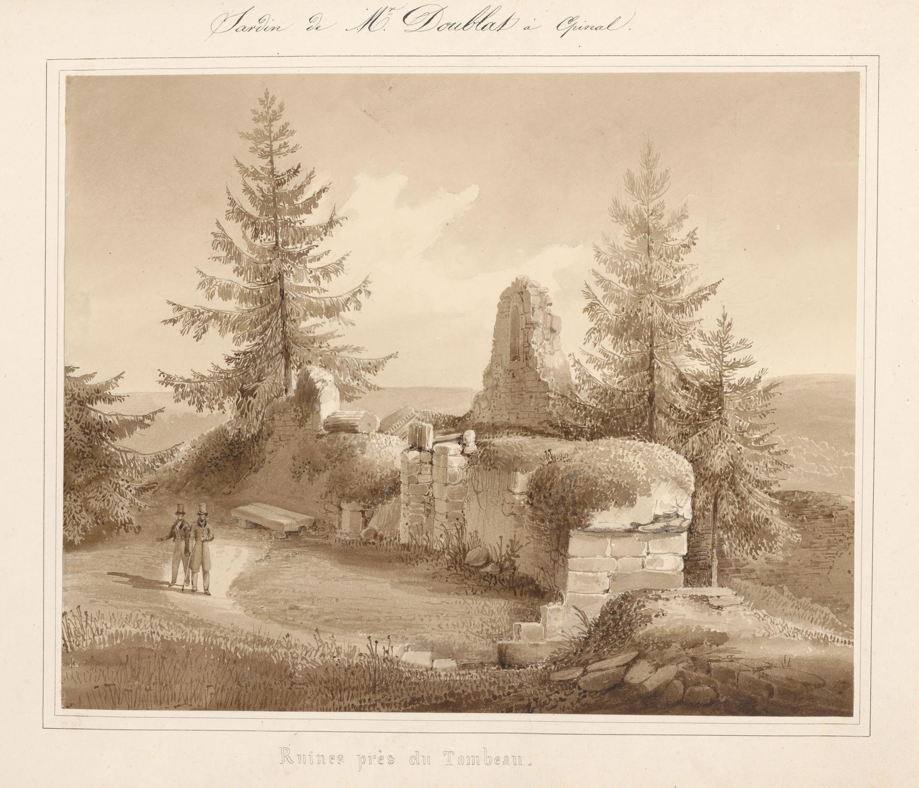 Contenu du Le château d'Epinal : Ruines près du tombeau