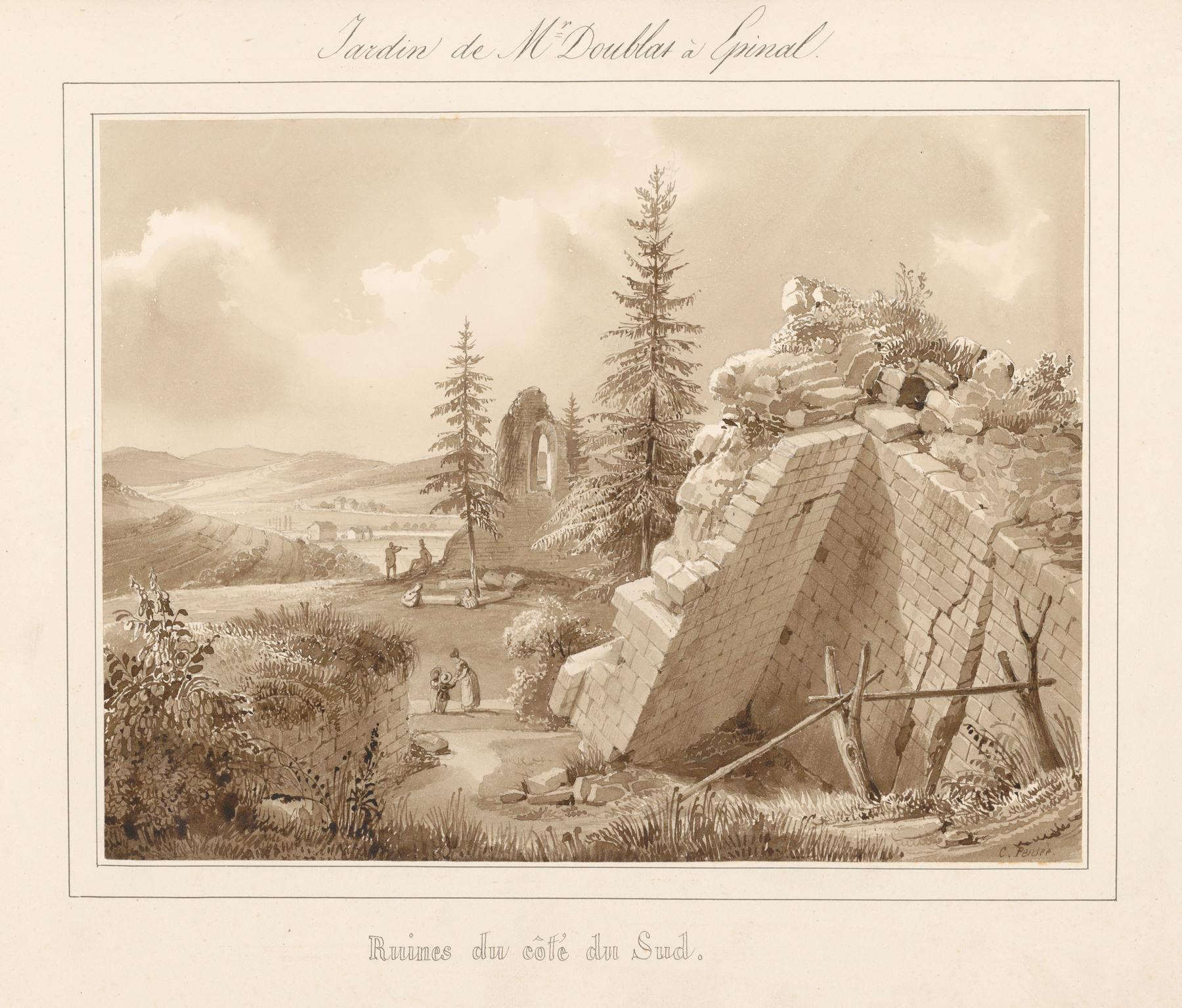 Contenu du Le château d'Epinal : Ruines du côté du Sud