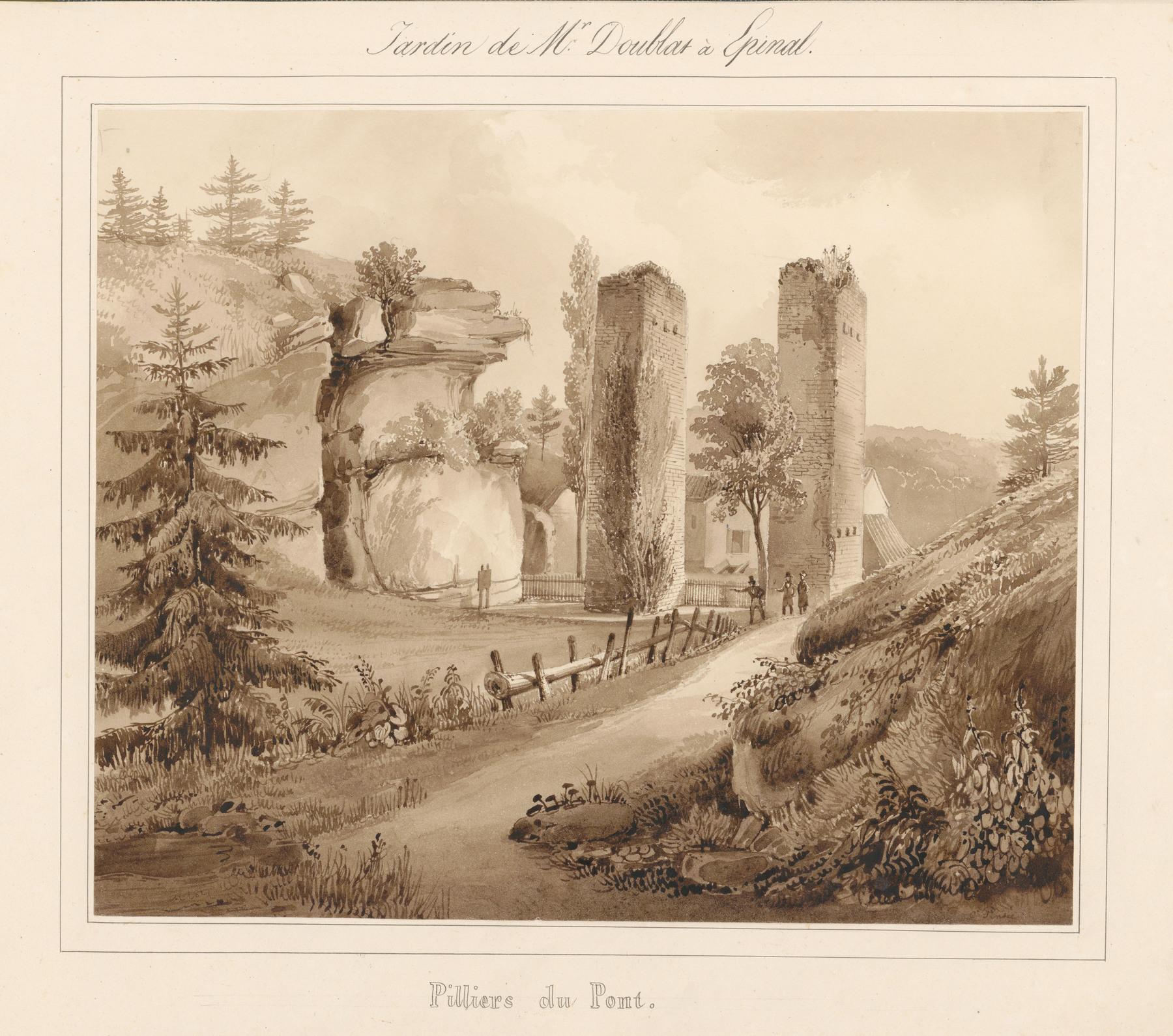 Contenu du Le château d'Epinal : Piliers du pont