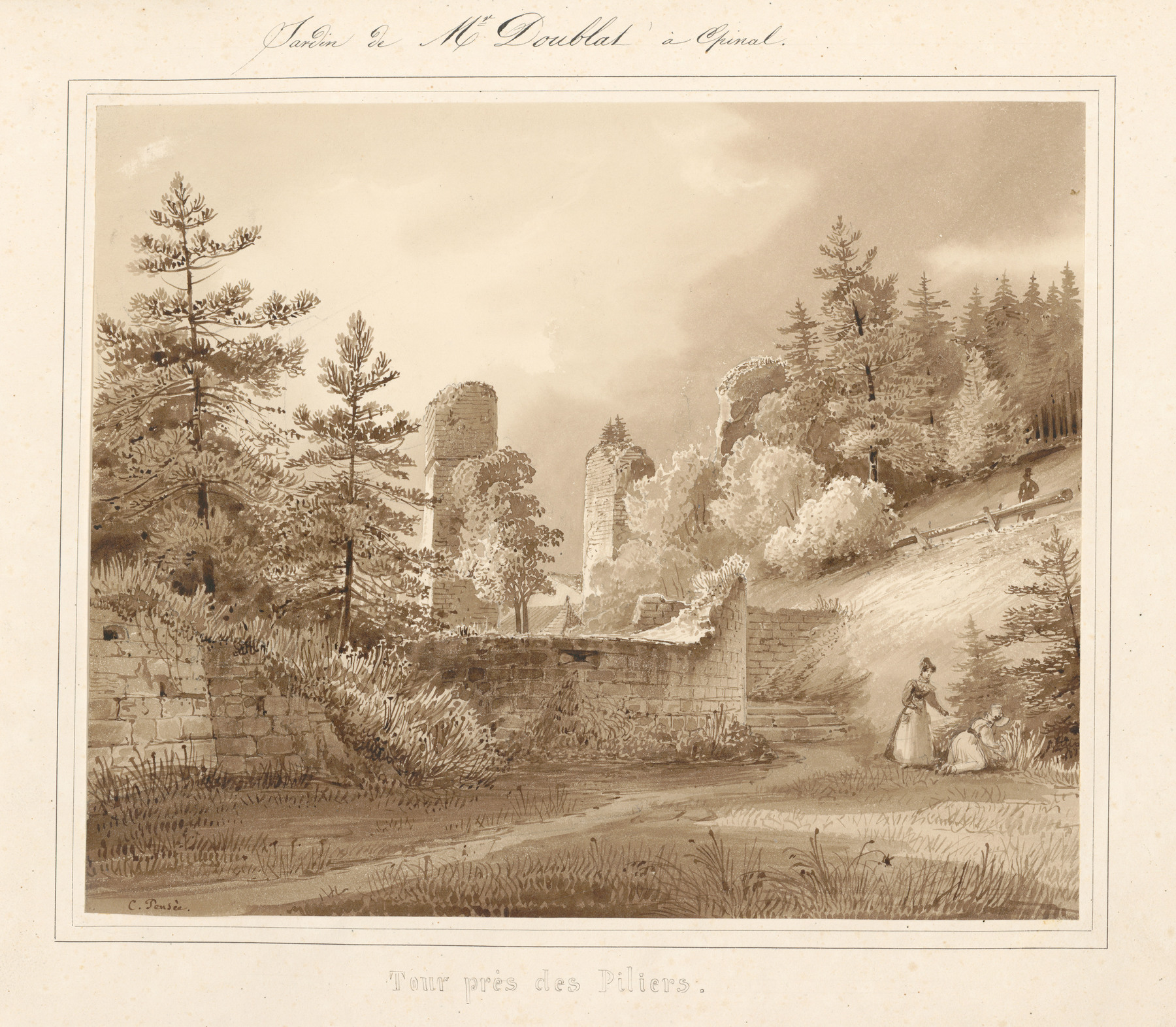 Contenu du Le château d'Epinal : Tour près des piliers