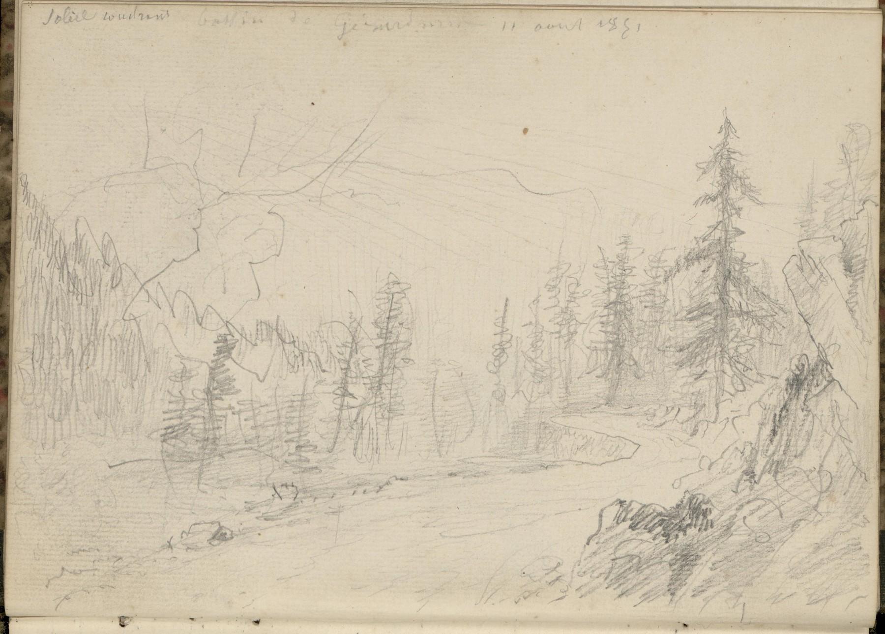 Contenu du Soleil couchant, bassin de Gérardmer, 11 août 1851