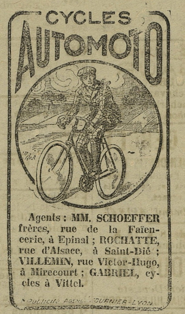 A bicyclette ...