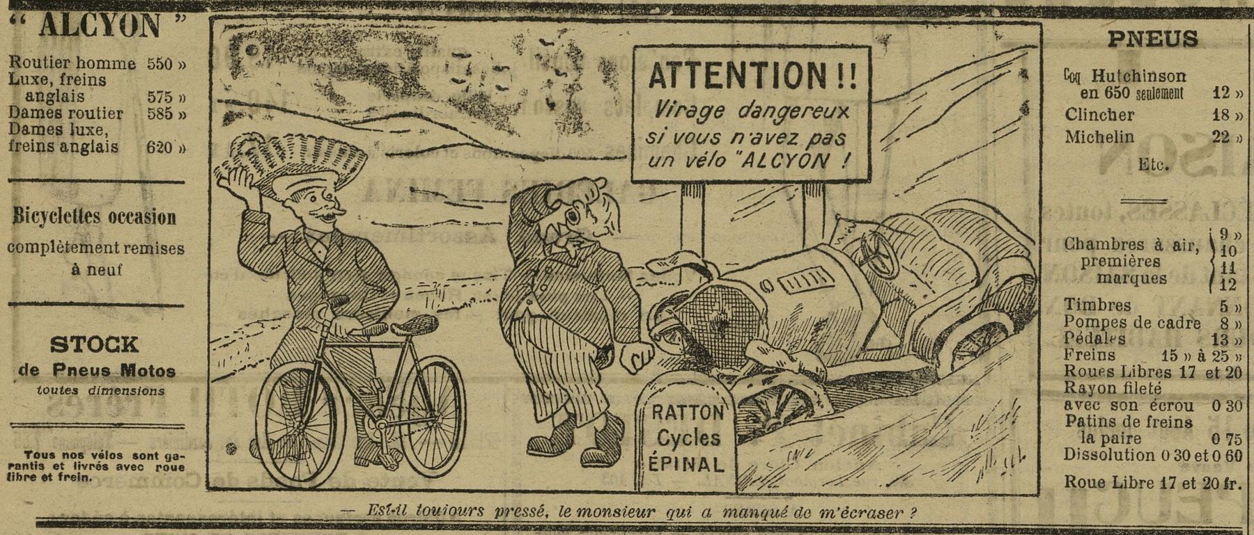 Contenu du Vélo Alcyon