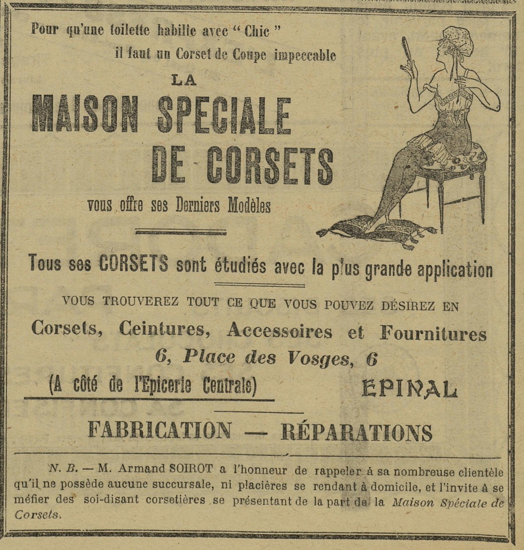 Contenu du Maison spéciale de corsets