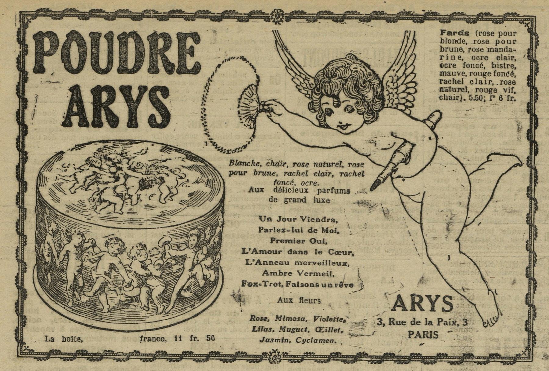 Contenu du Poudre Arys