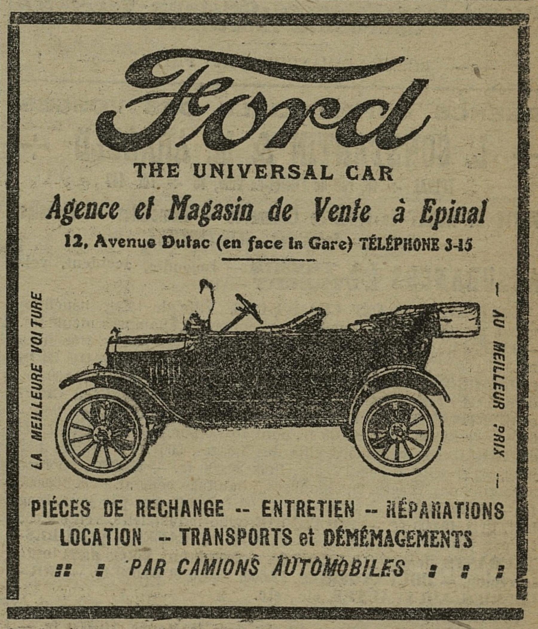 Contenu du Ford
