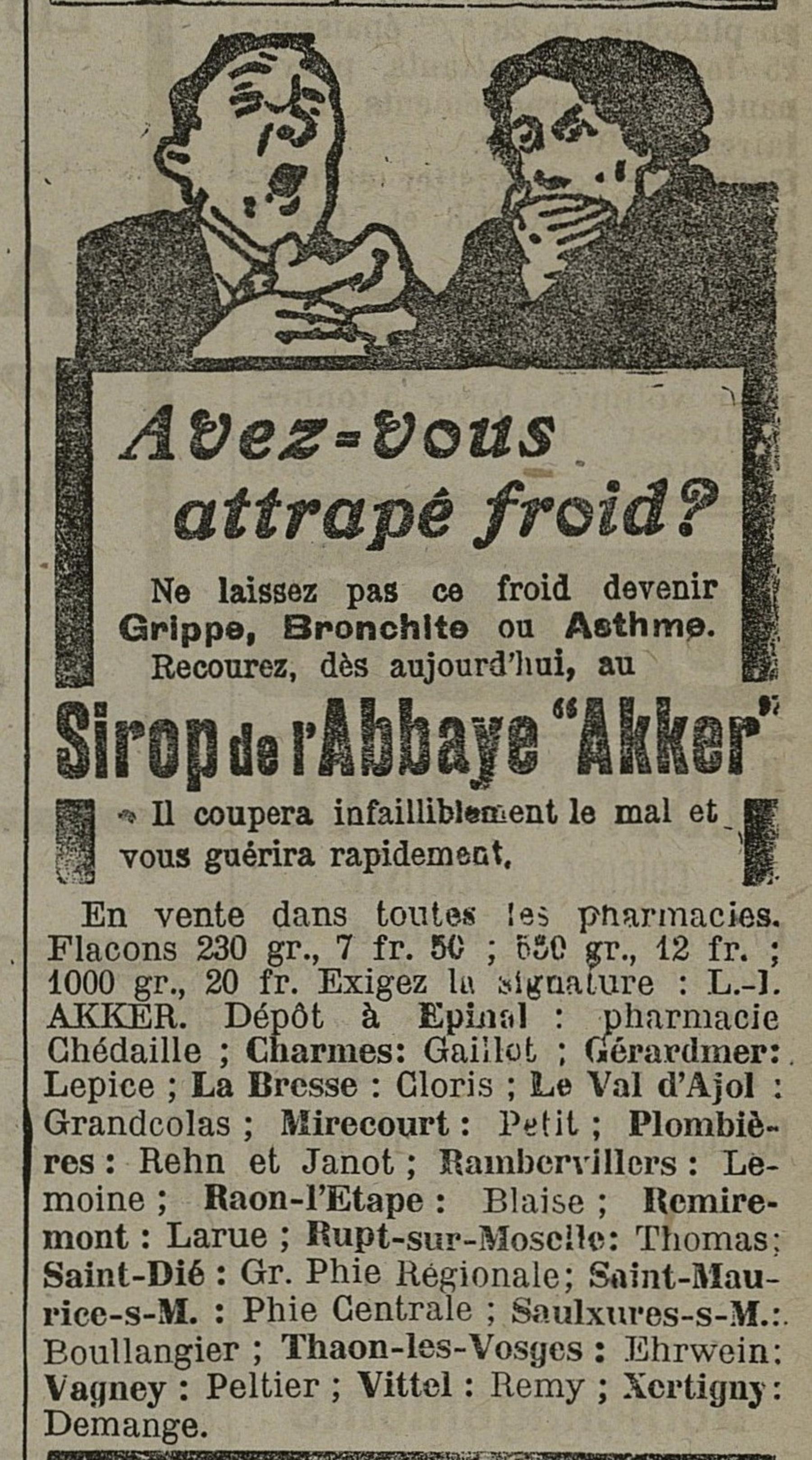 Contenu du Sirop de l'Abbaye Akker