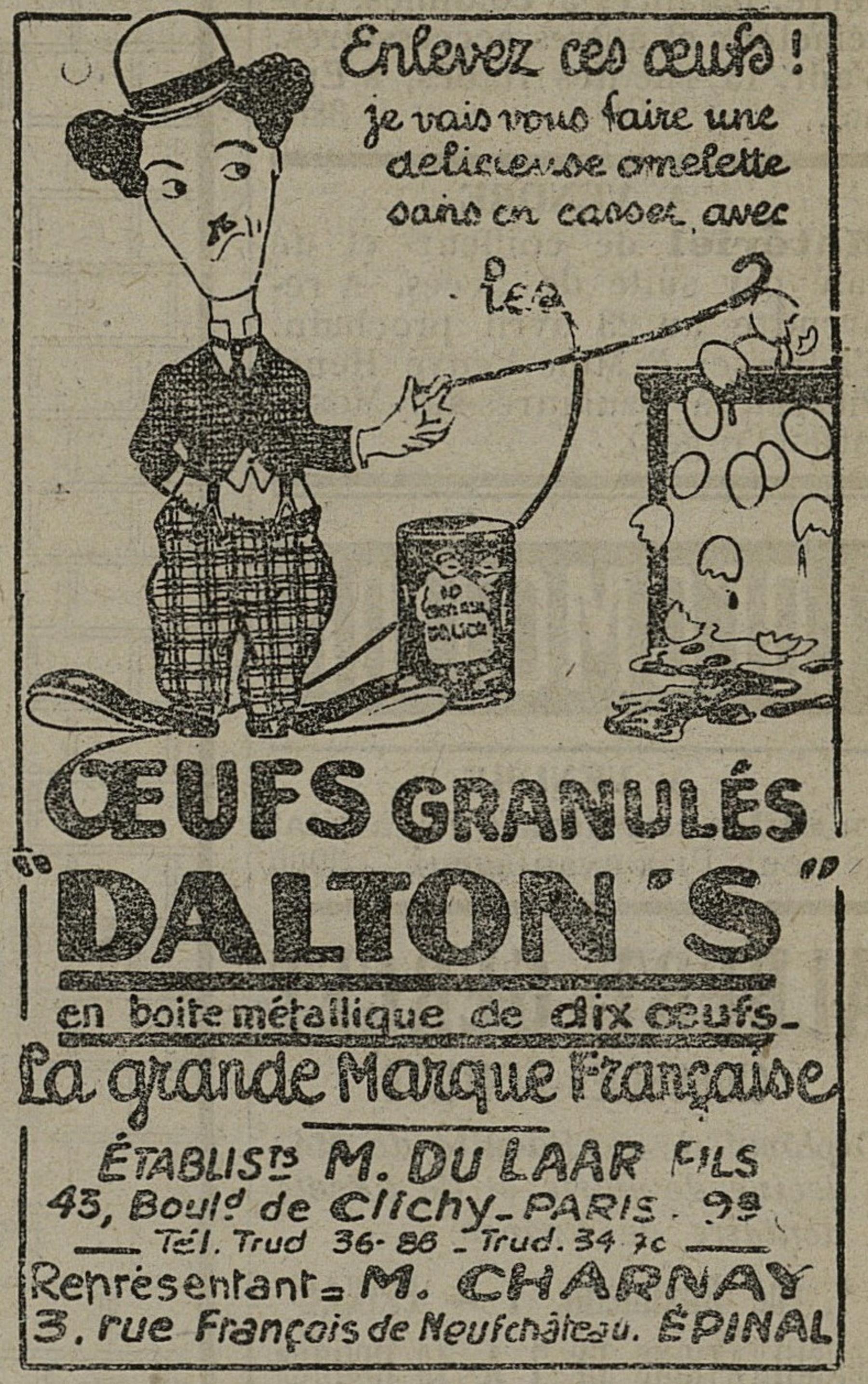 Contenu du Oeufs Dalton's