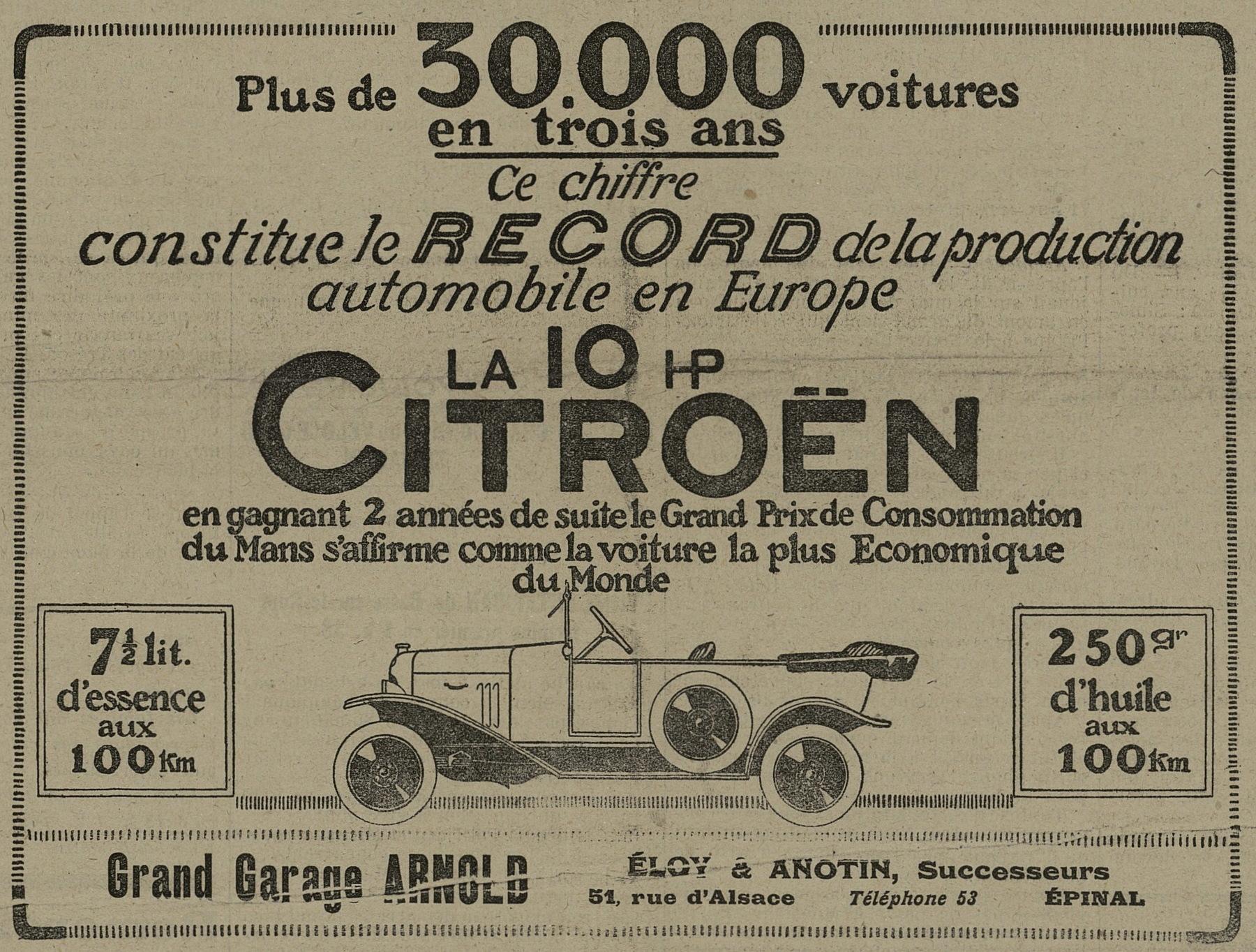 Contenu du Citroën