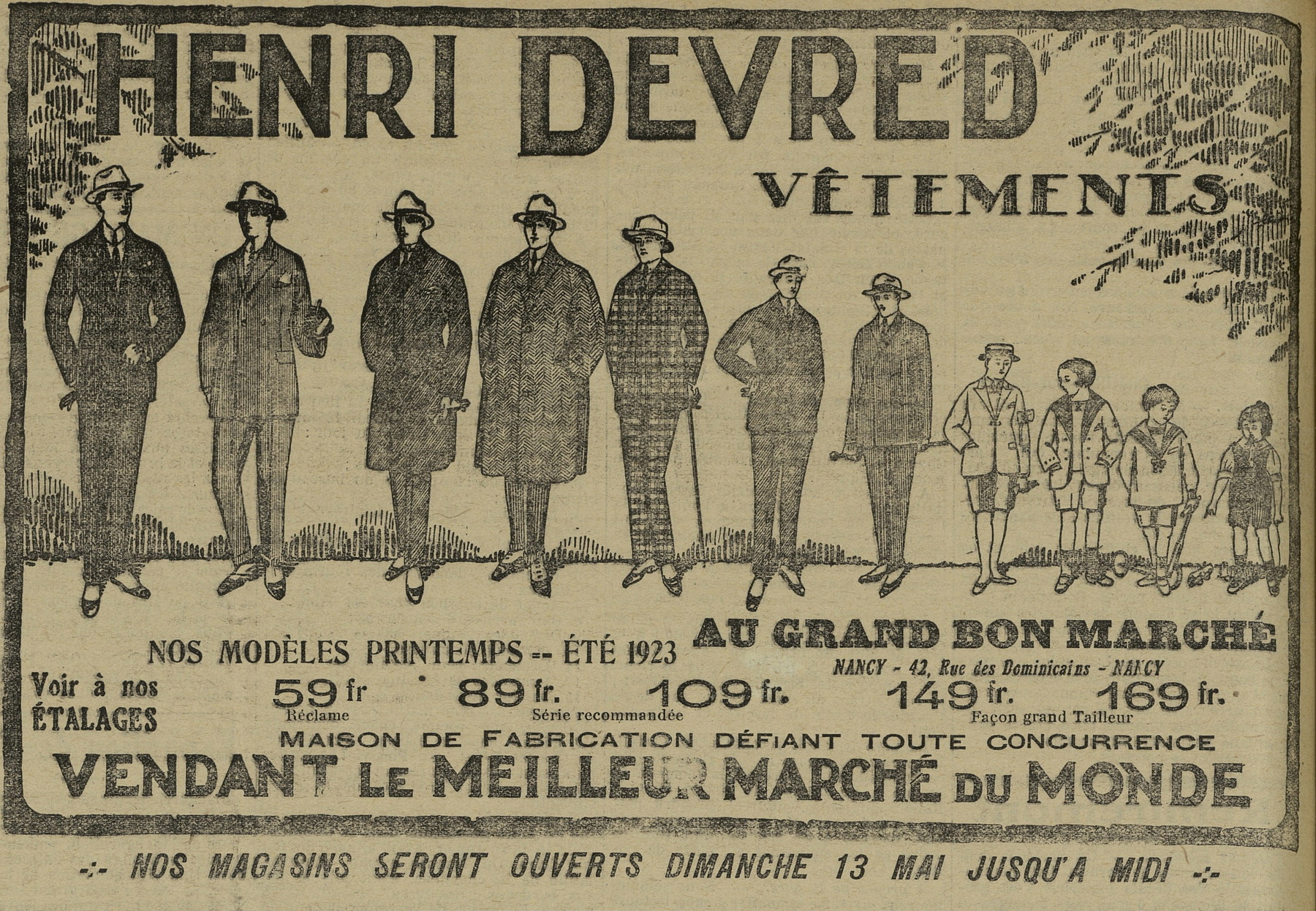 Contenu du Henri Devred