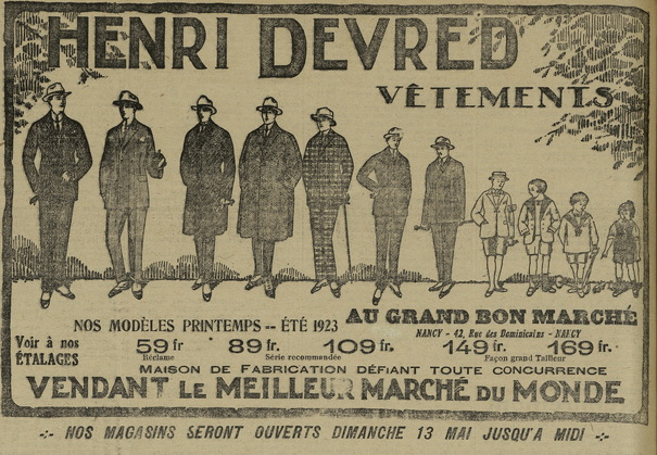 La mode au masculin