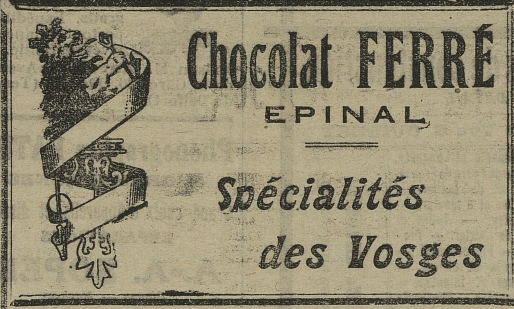 Contenu du Chocolat Ferré