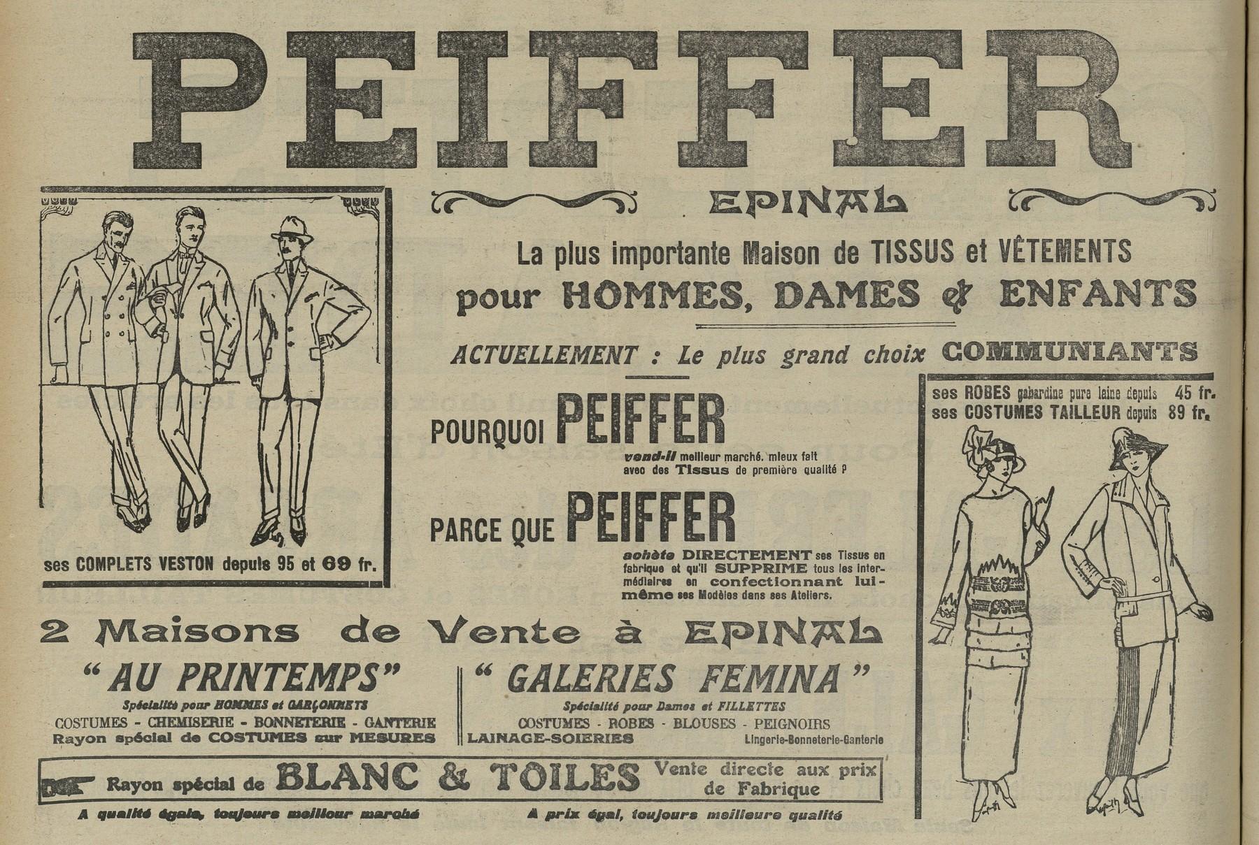 Contenu du Vêtements Peiffer