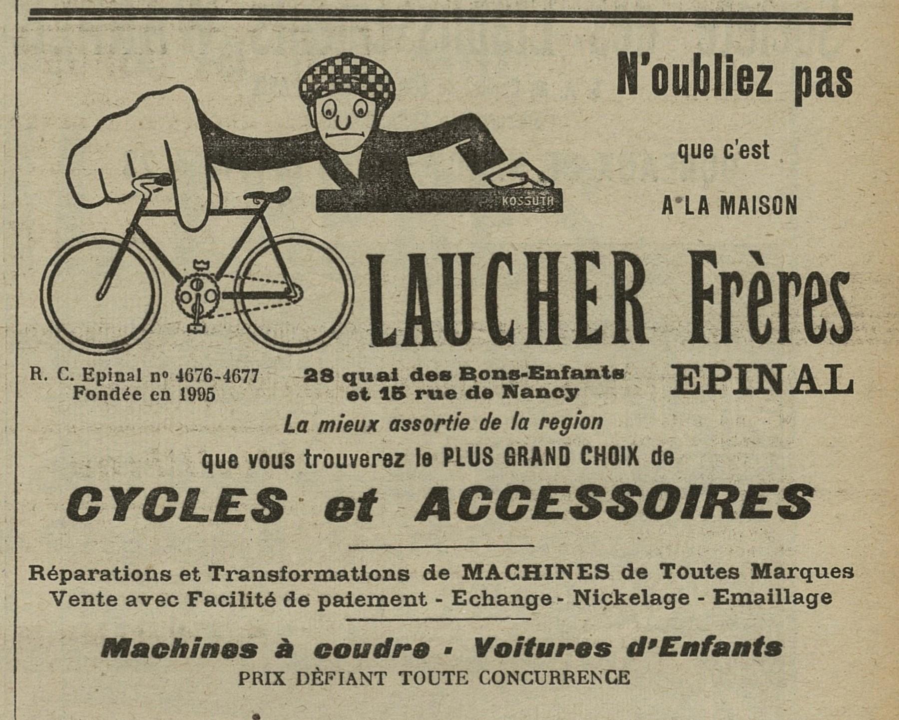 Contenu du Cycles et accessoires Laucher Frères