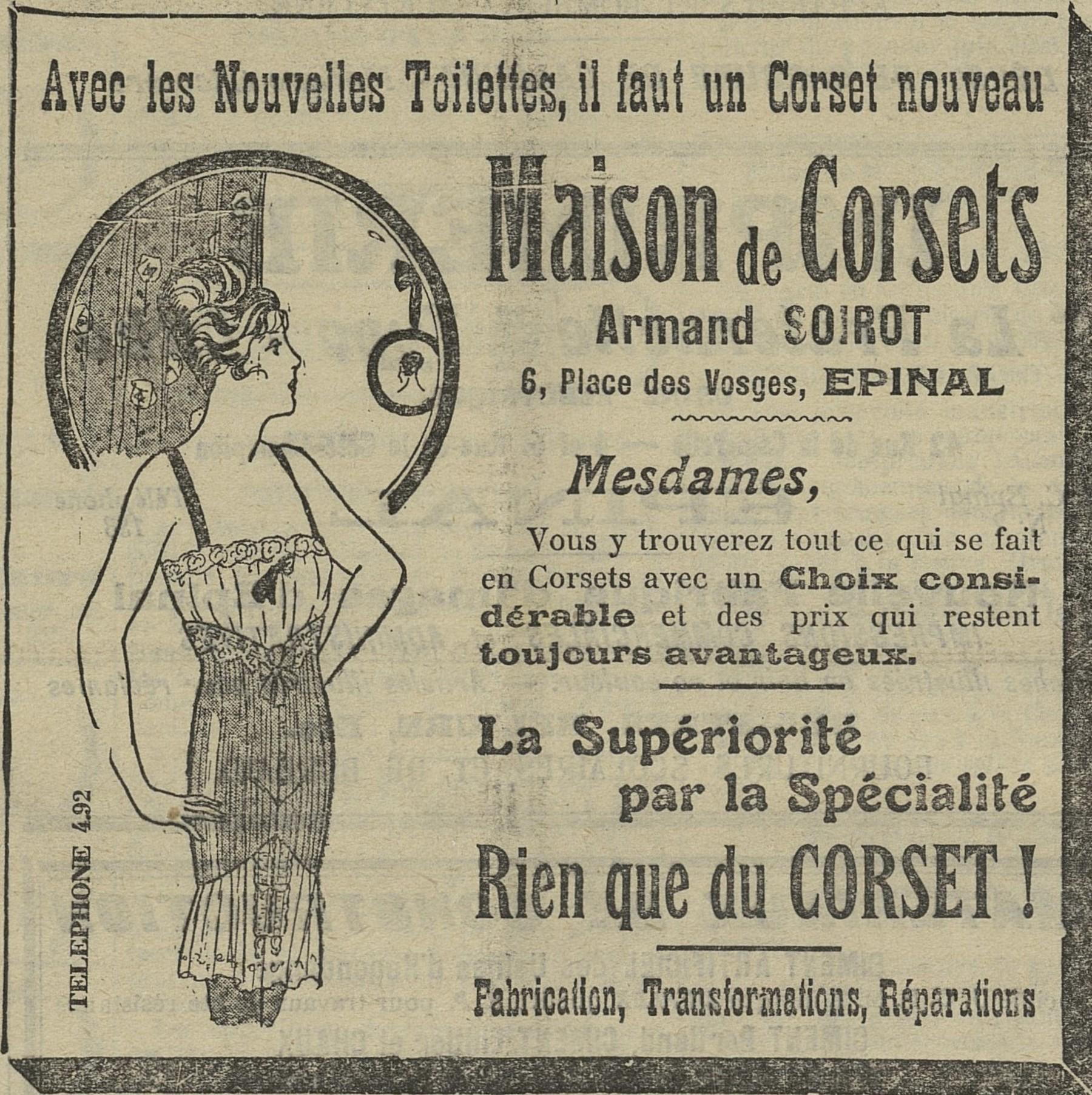 Contenu du Maison de Corsets