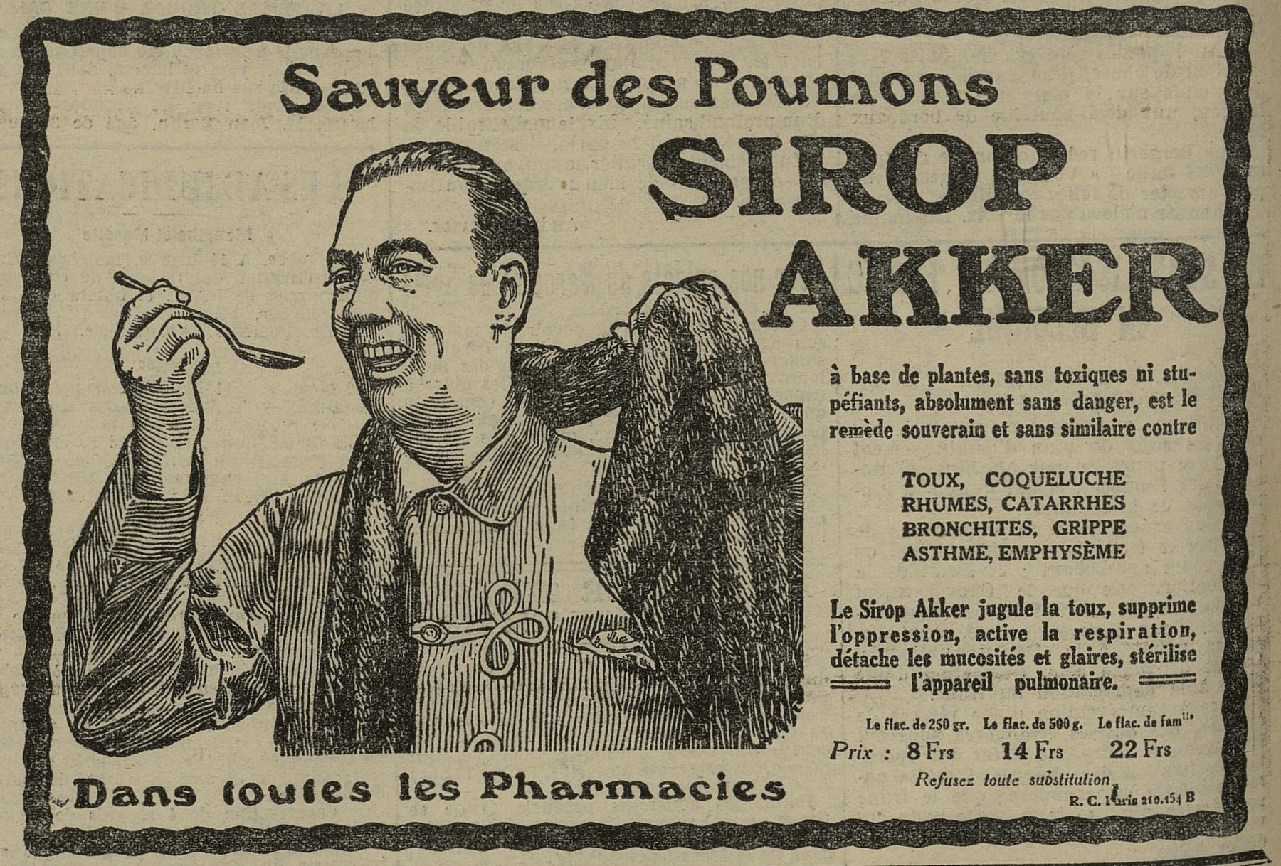Contenu du Sirop Akker