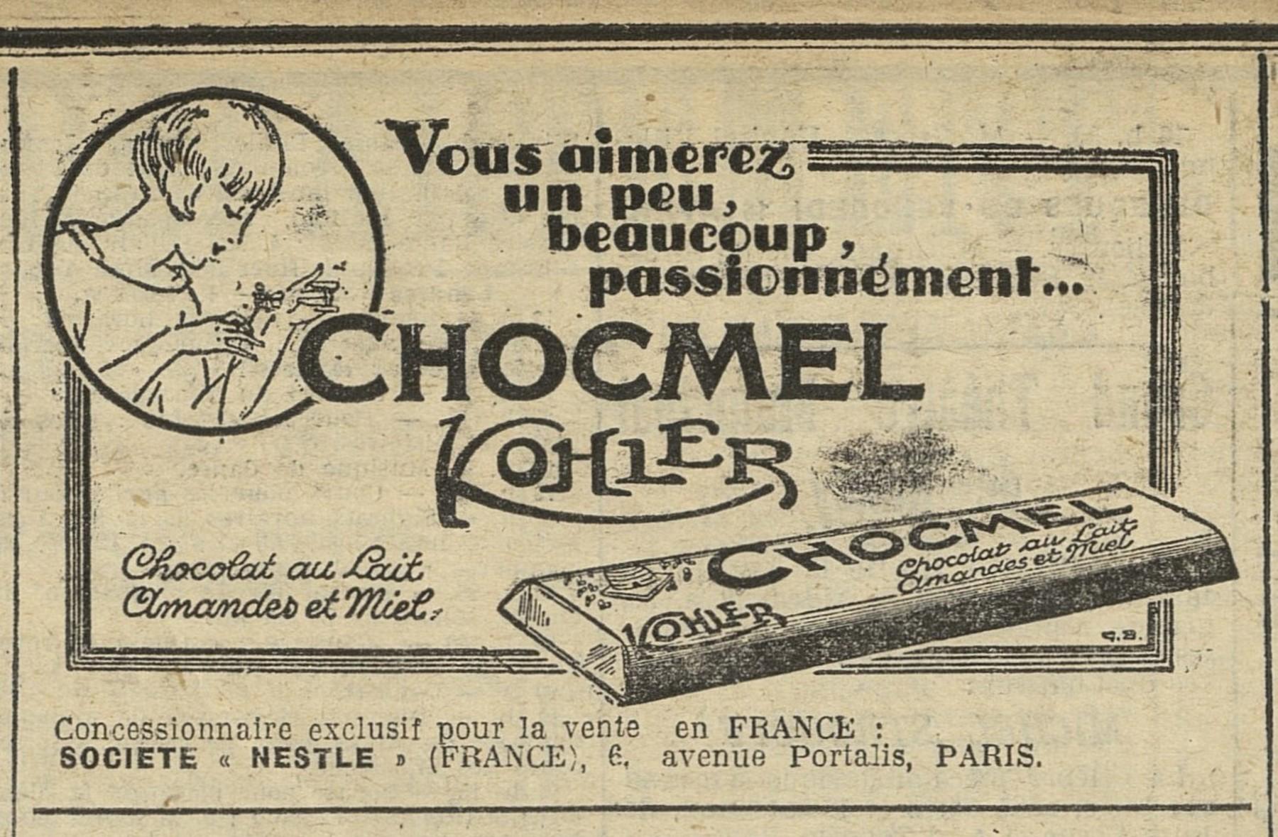 Contenu du Barre chocolatée Chocmel