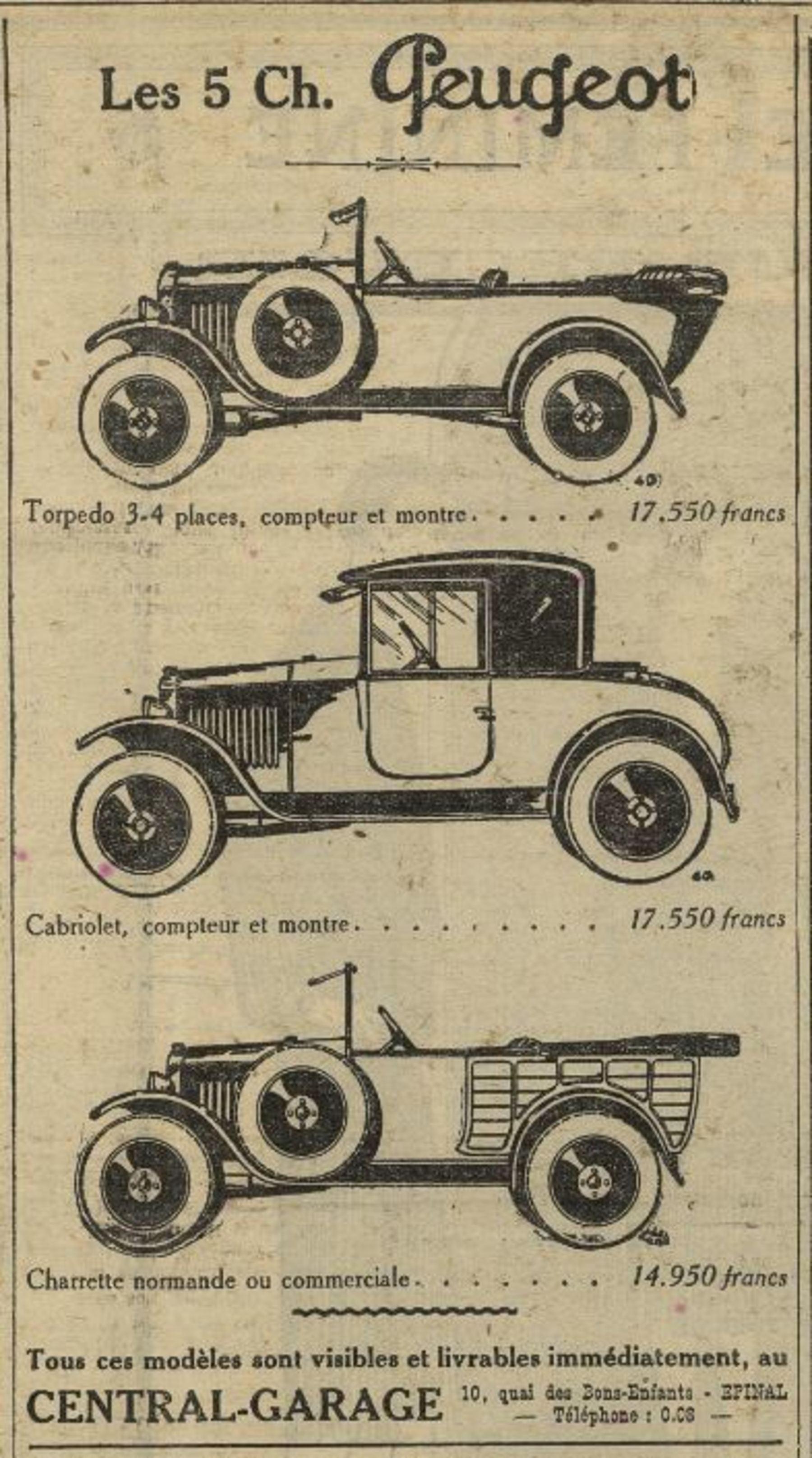 Contenu du 5 Ch. Peugeot