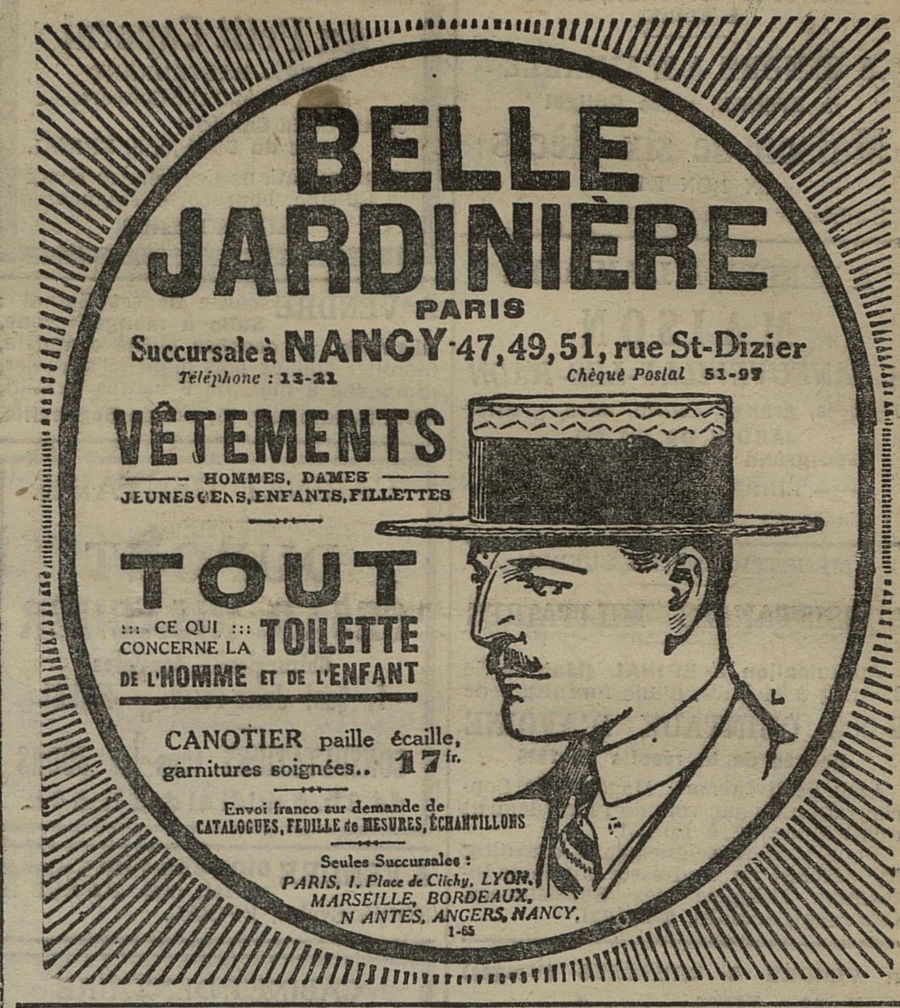 Contenu du Vêtements Belle Jardinière