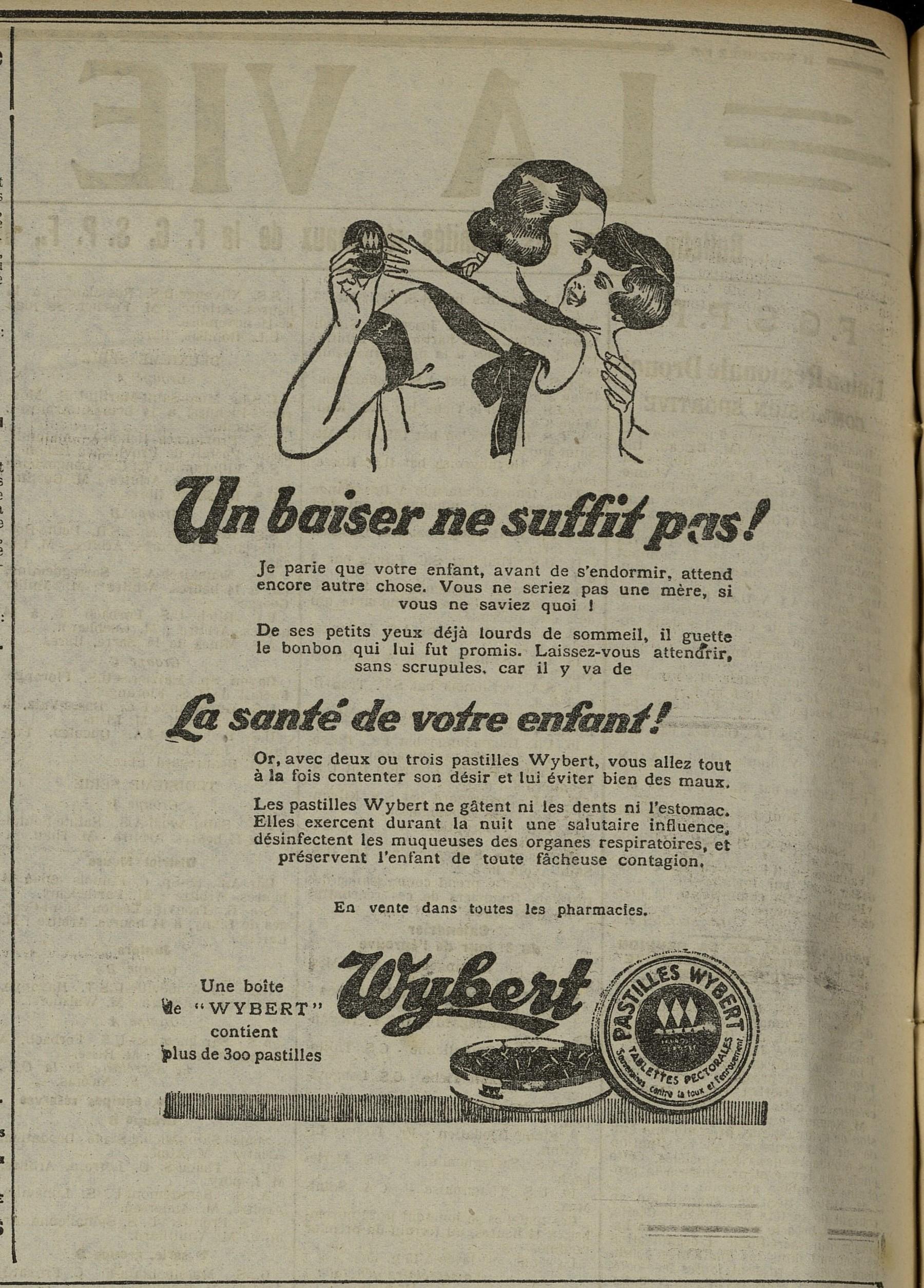 Contenu du Pastilles Wybert