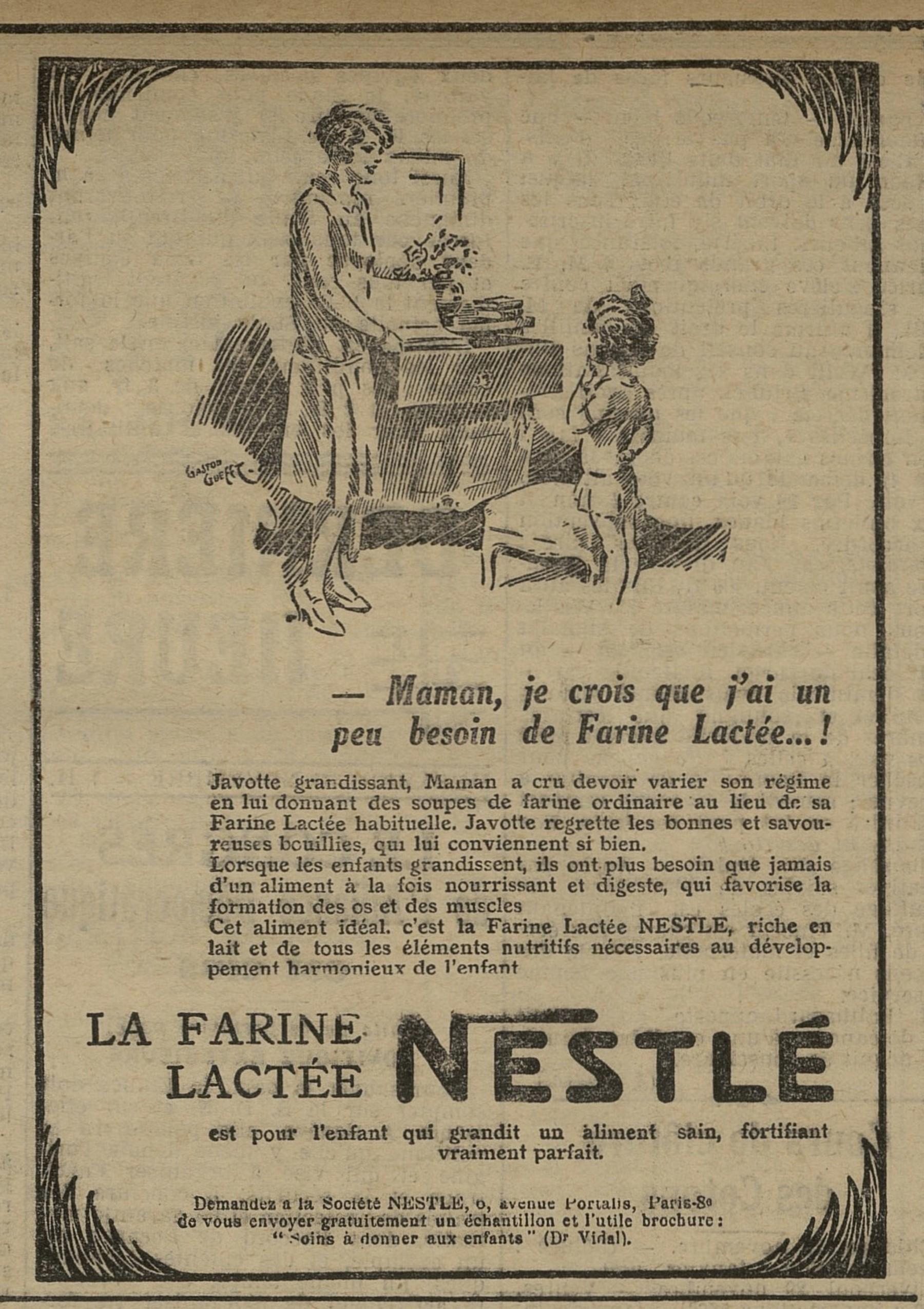 Contenu du Farine Nestlé