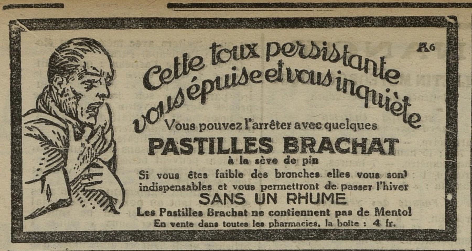 Contenu du Pastilles Brachat