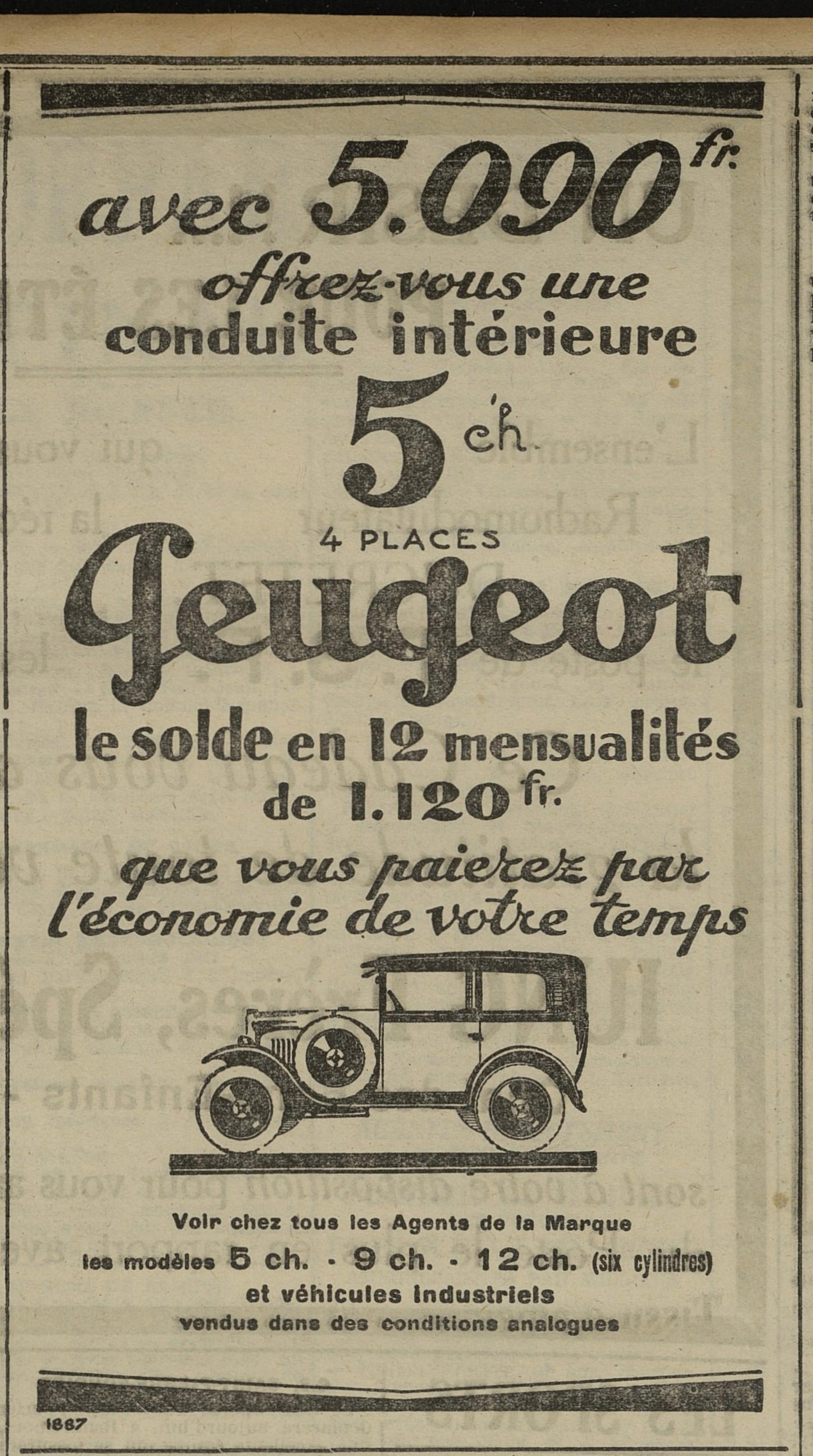 Contenu du Peugeot