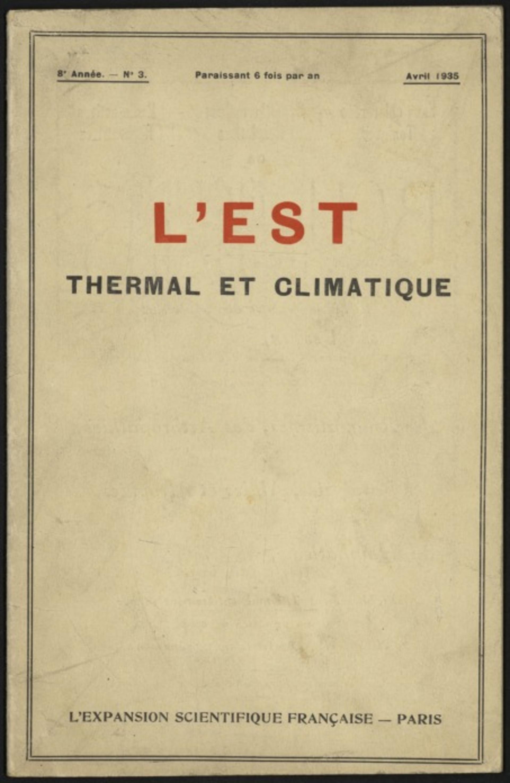 L'Est thermal et climatique
